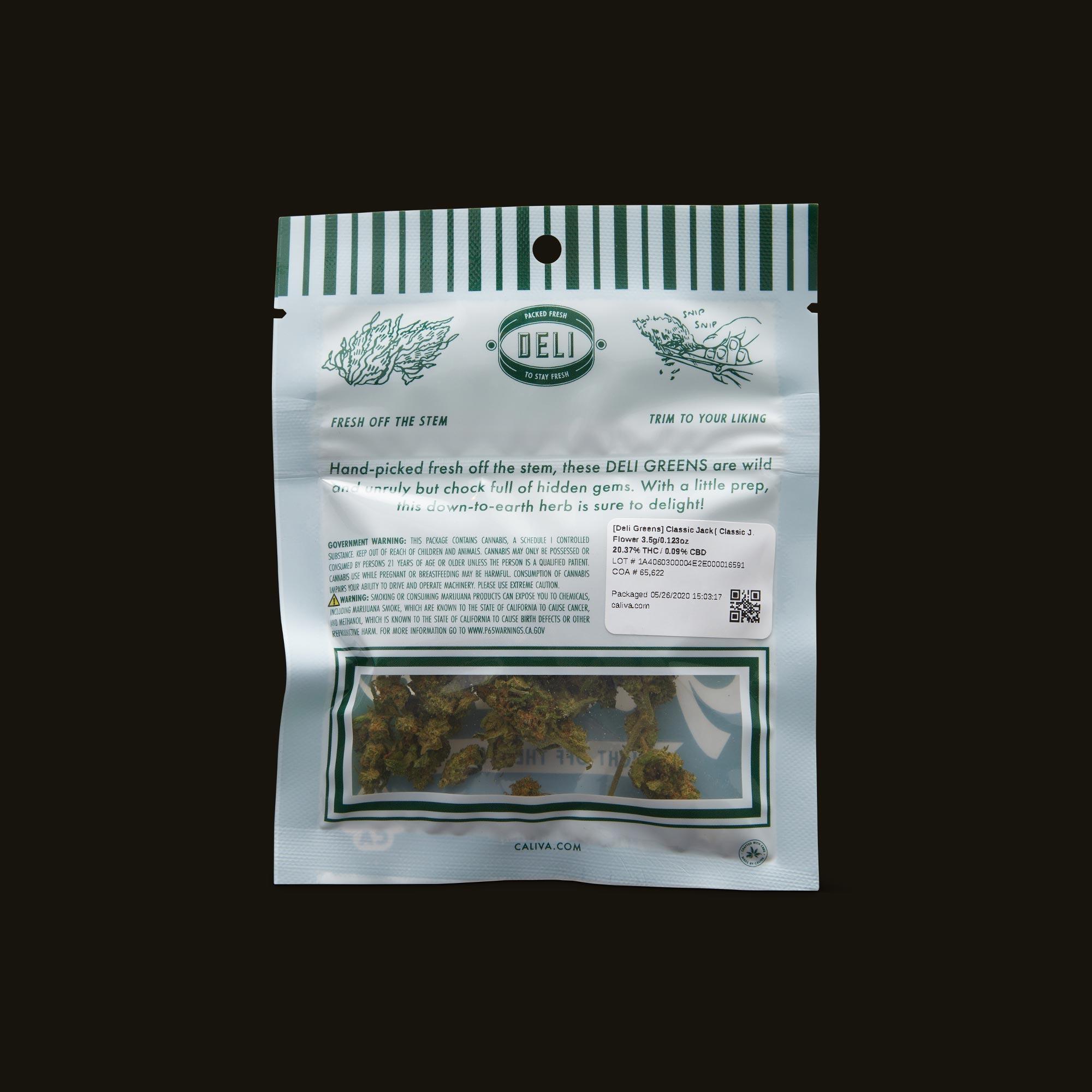 Deli Classic Jack Greens Back Packaging