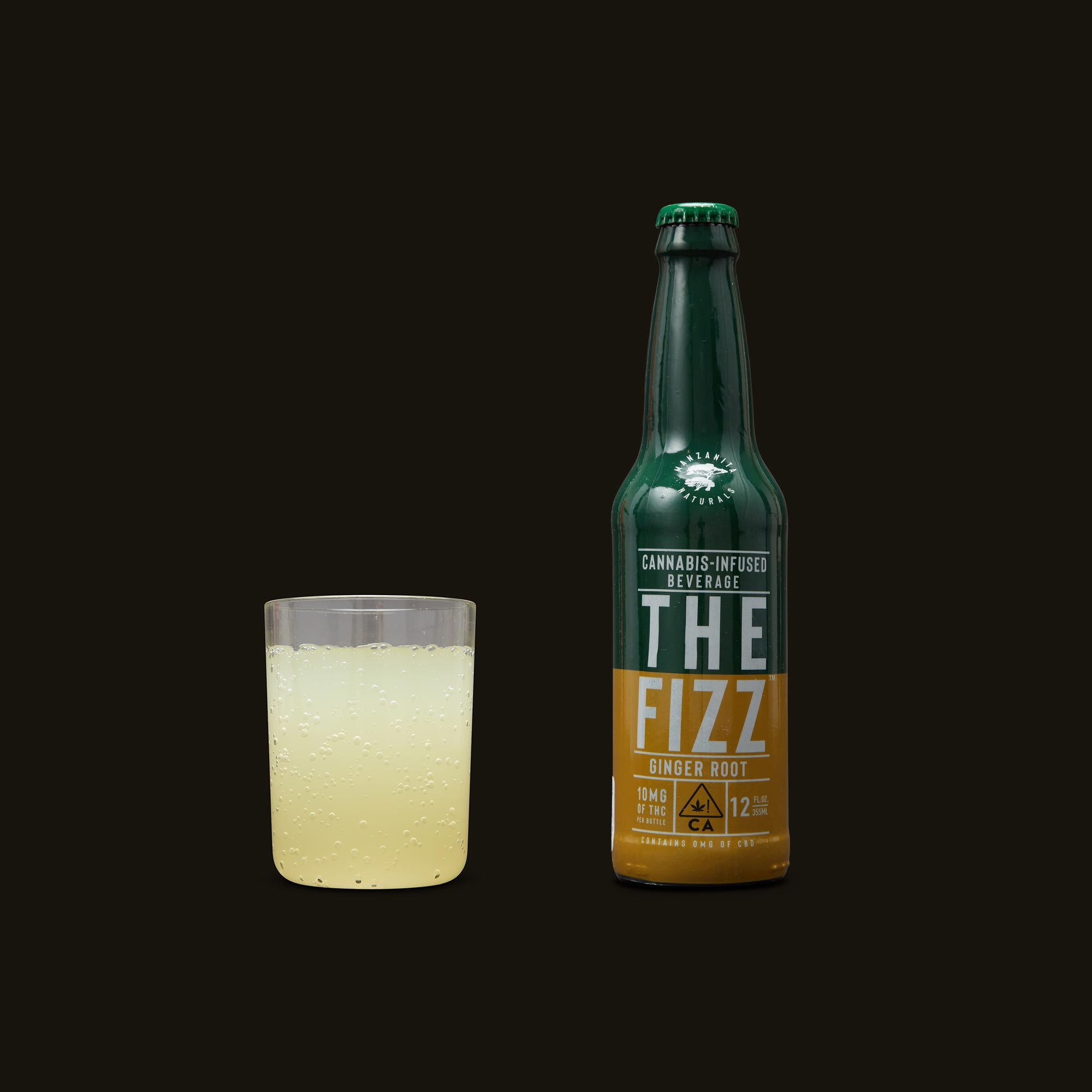 Manzanita Naturals The Fizz Ginger Root Natural Soda