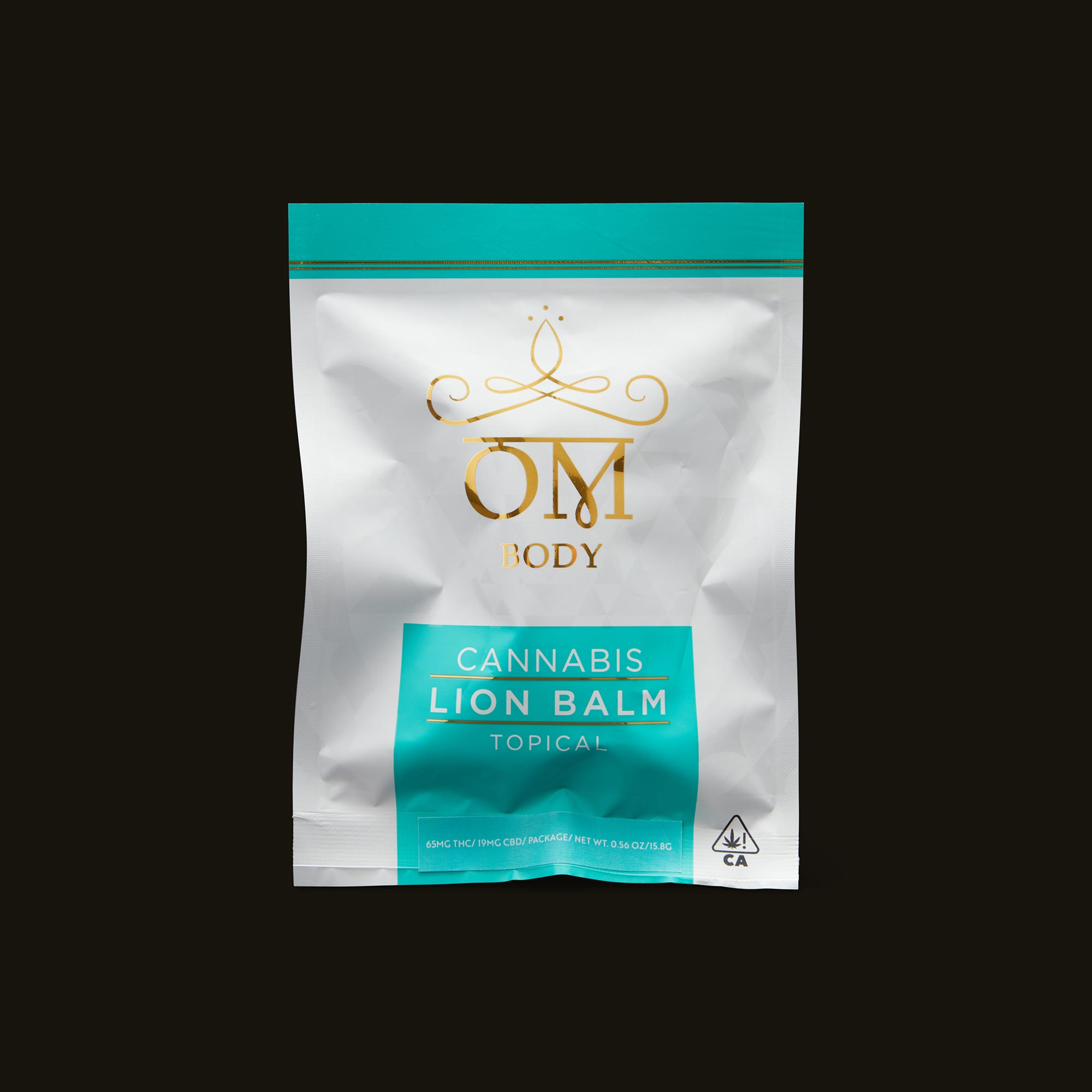 Om Edibles Lion Balm Roll On Packaging