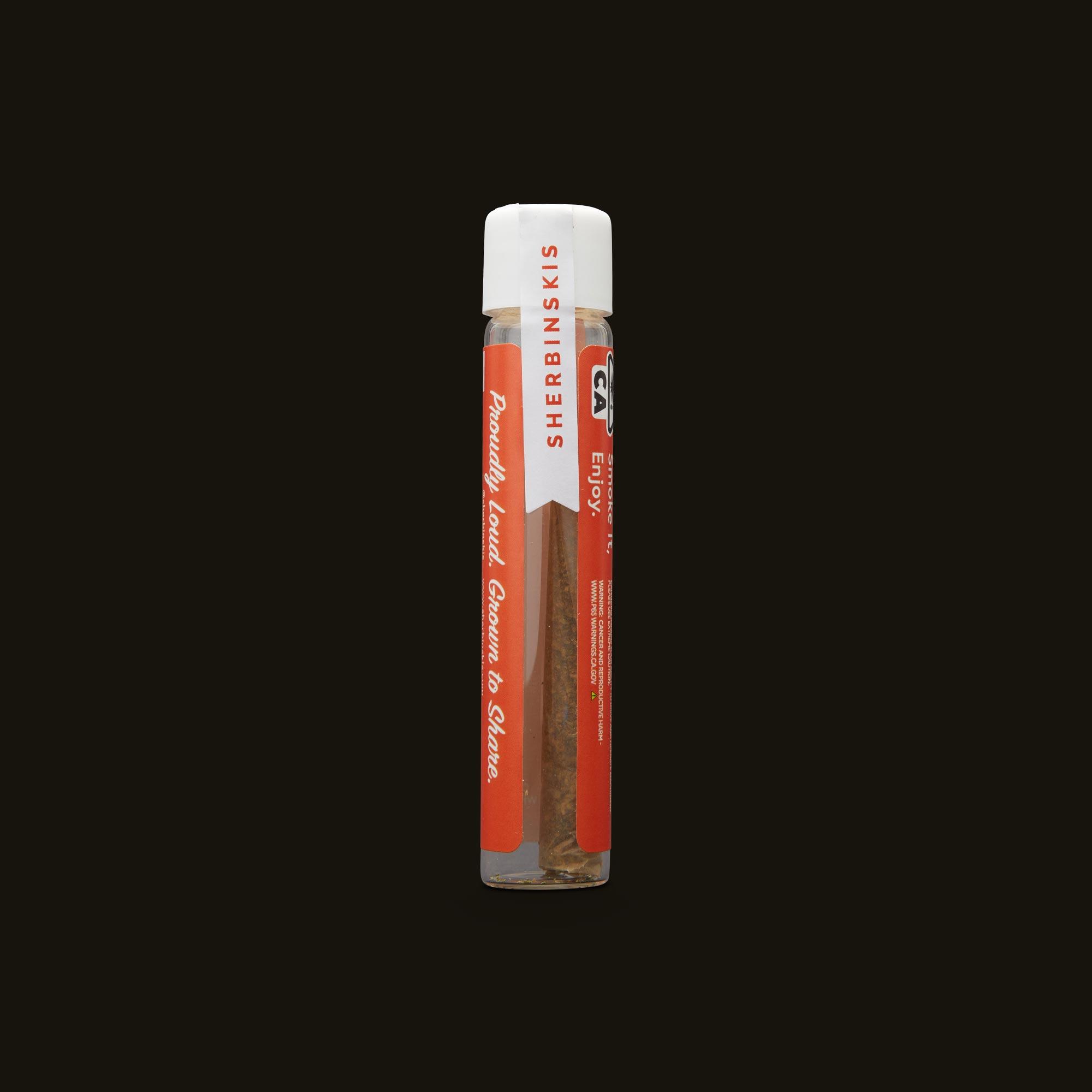 Sherbinskis Acaiberry Gelato Pre-Roll Side Packaging