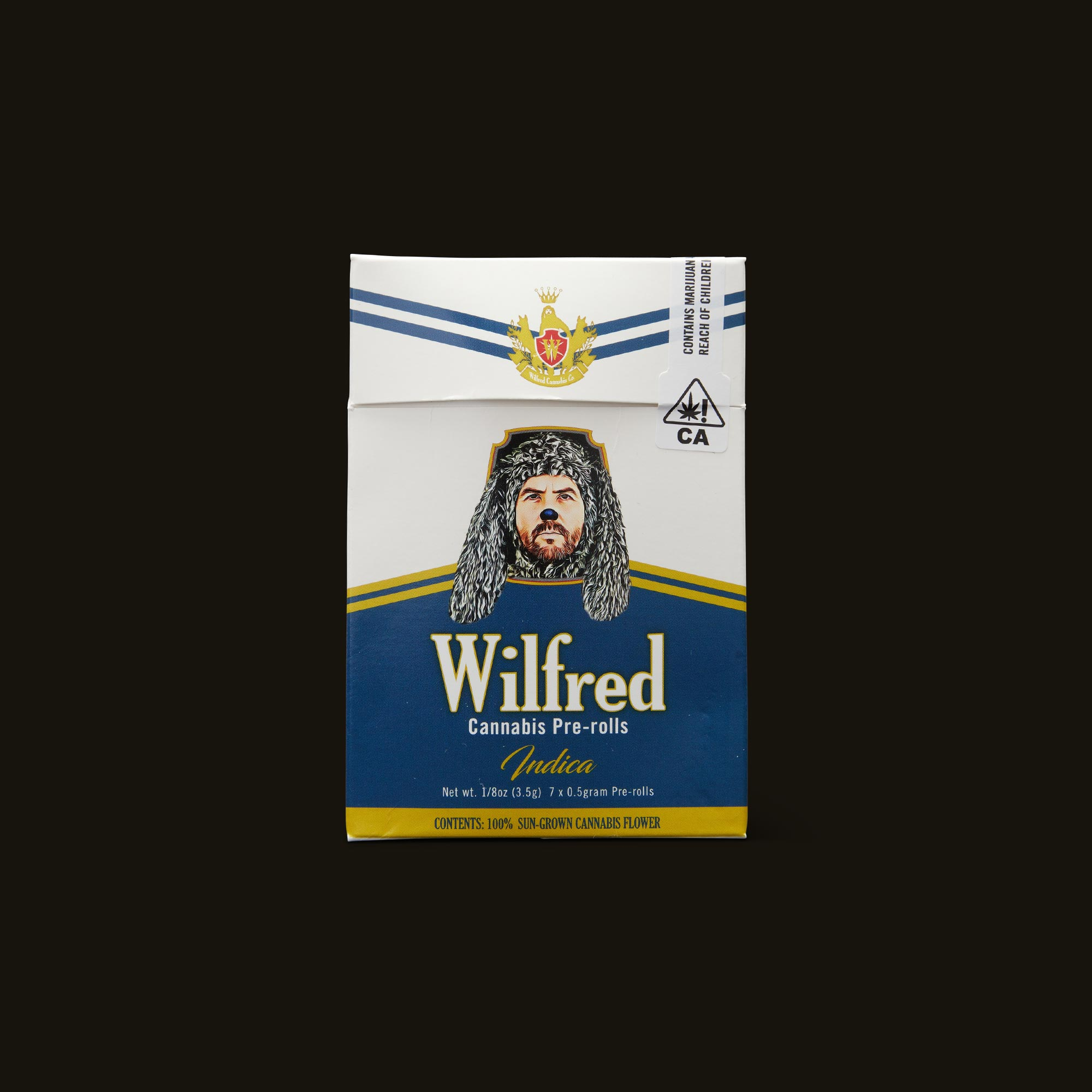 Wilfred Cannabis Indica Pre-Rolls Front Packaging