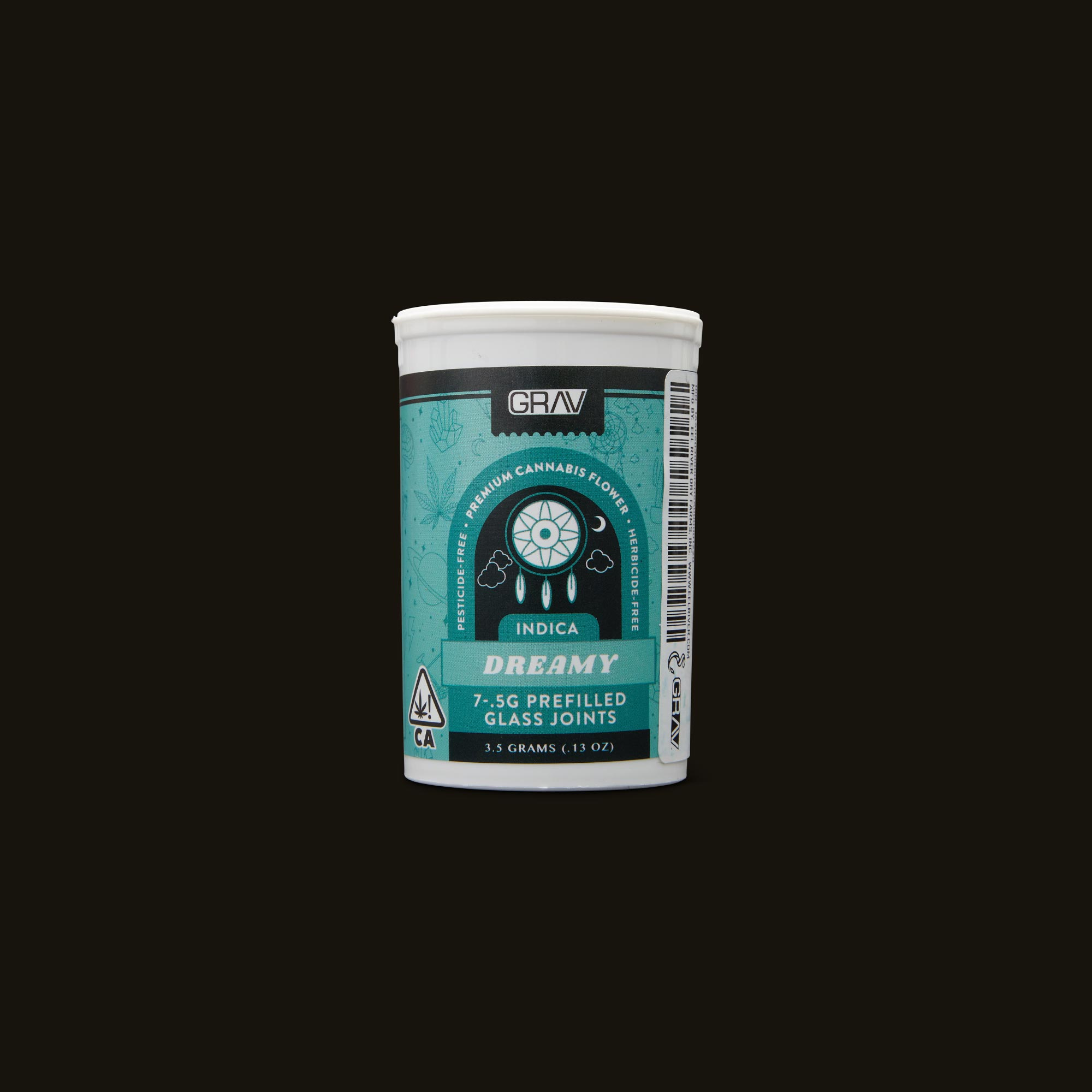 GRAV Dreamy Pre-Roll 7-Pack Front Packaging