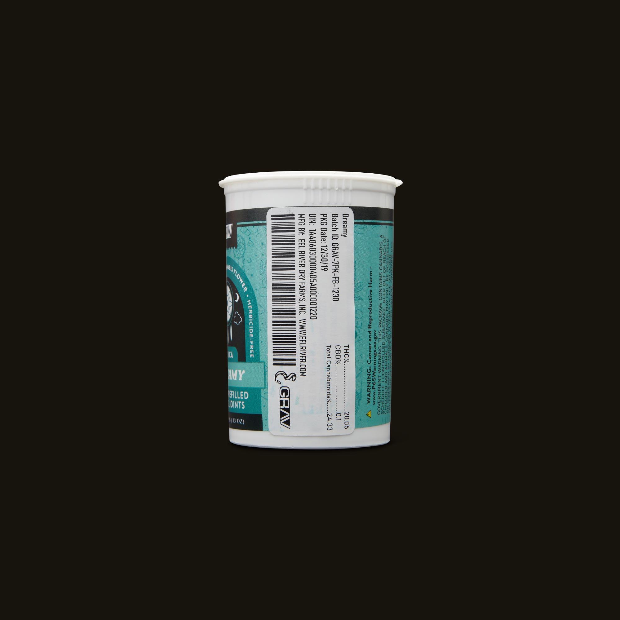 GRAV Dreamy Pre-Roll 7-Pack Ingredients