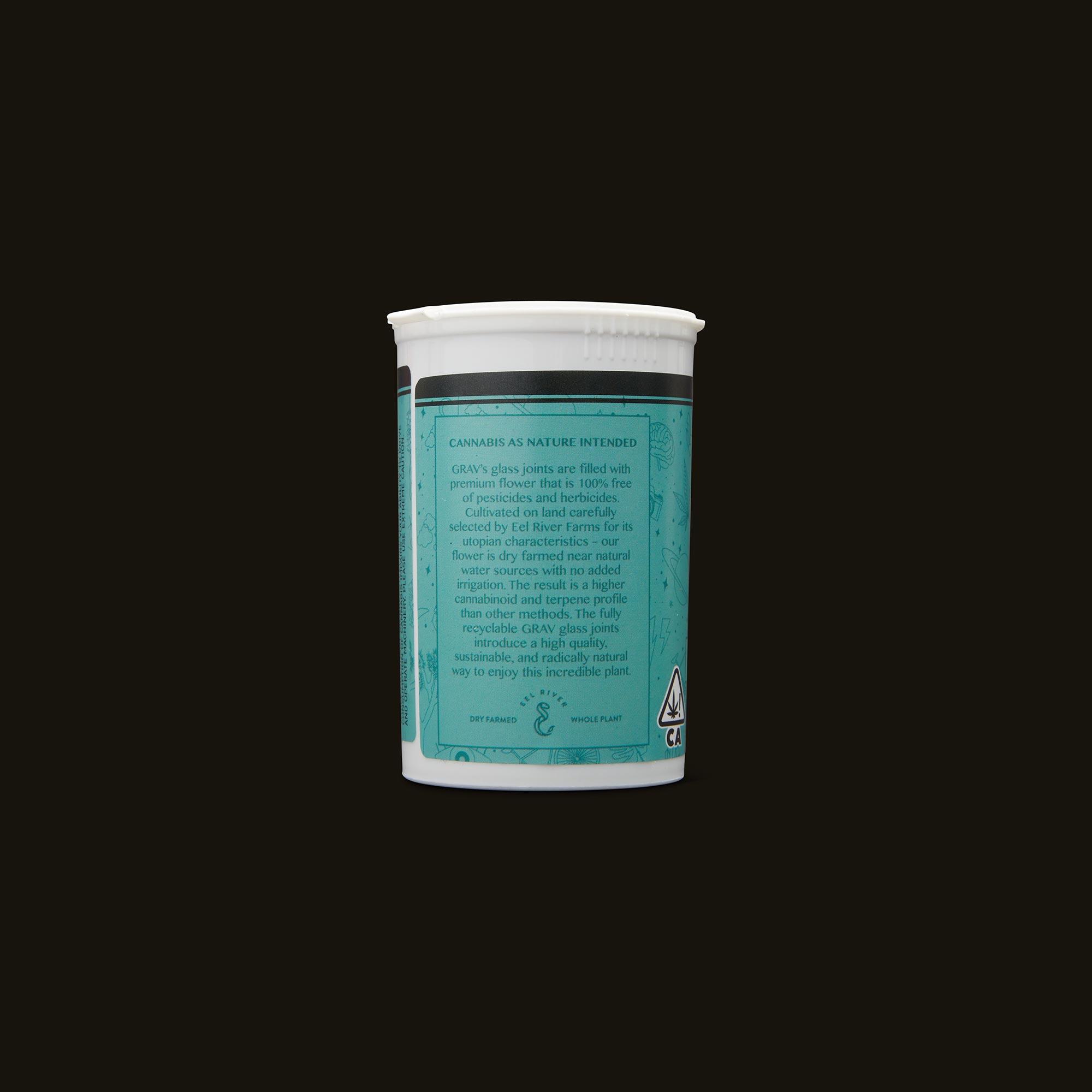 GRAV Dreamy Pre-Roll 7-Pack Back Packaging