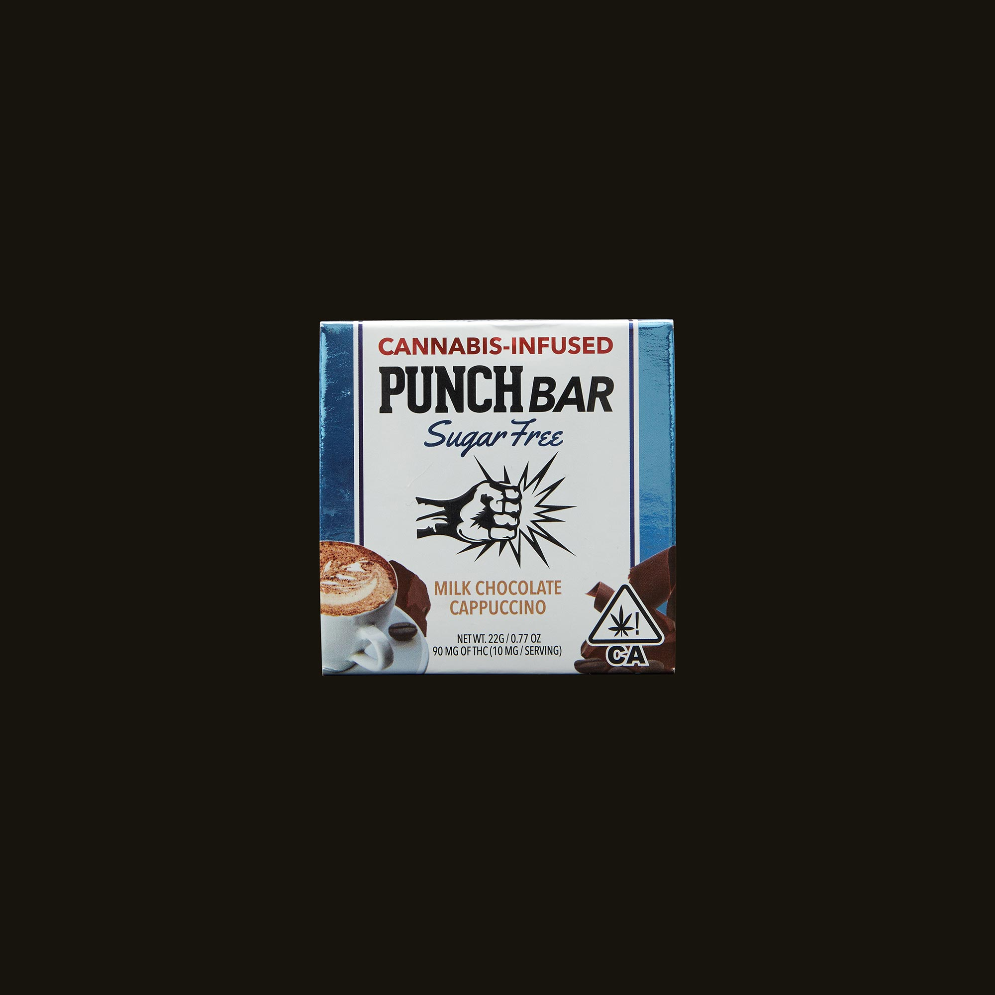 Punch Edibles PUNCH BAR Sugar Free Milk Chocolate Cappuccino Front Packaging