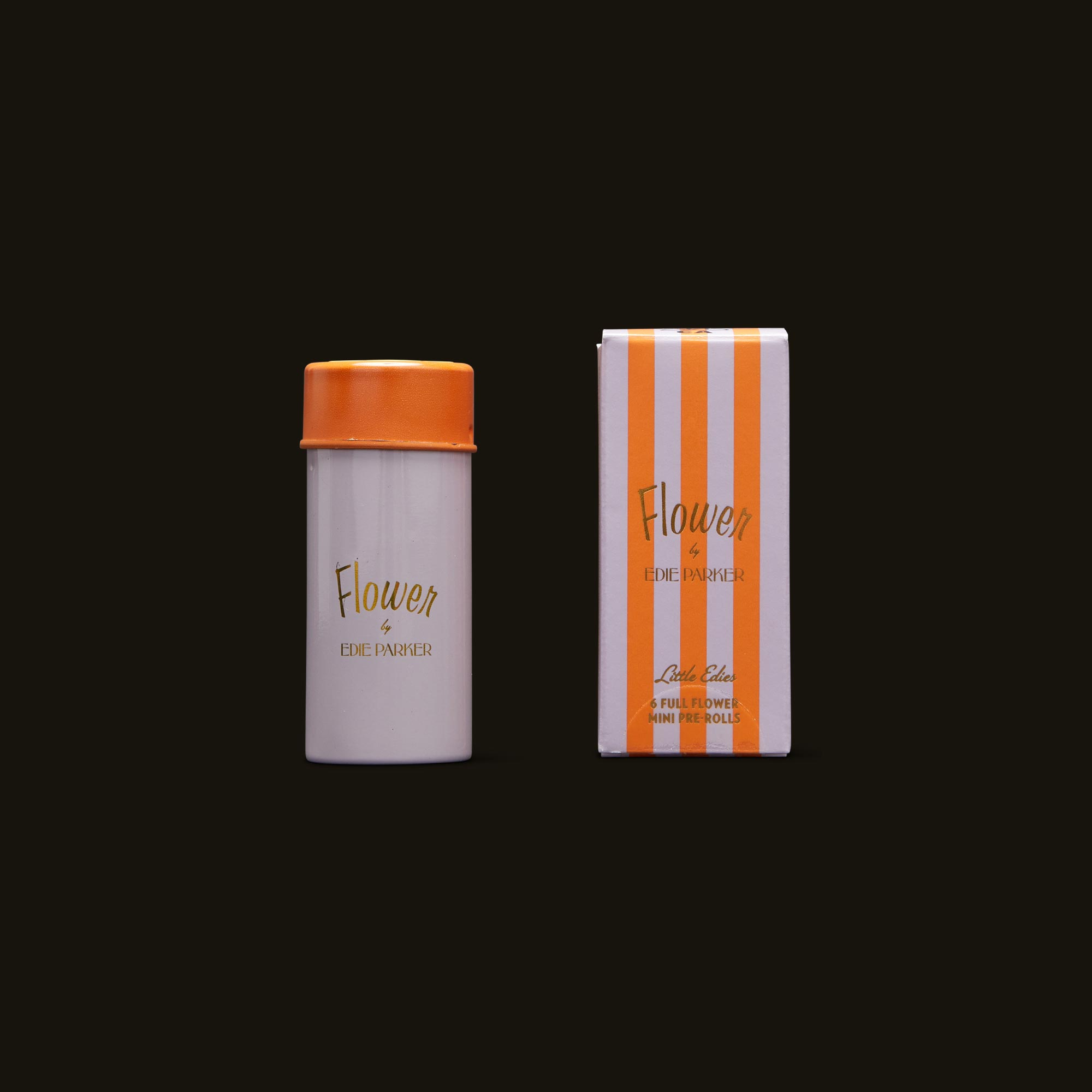 Flower by Edie Parker Indica Little Edie's Mini Pre-Rolls Container and Packaging