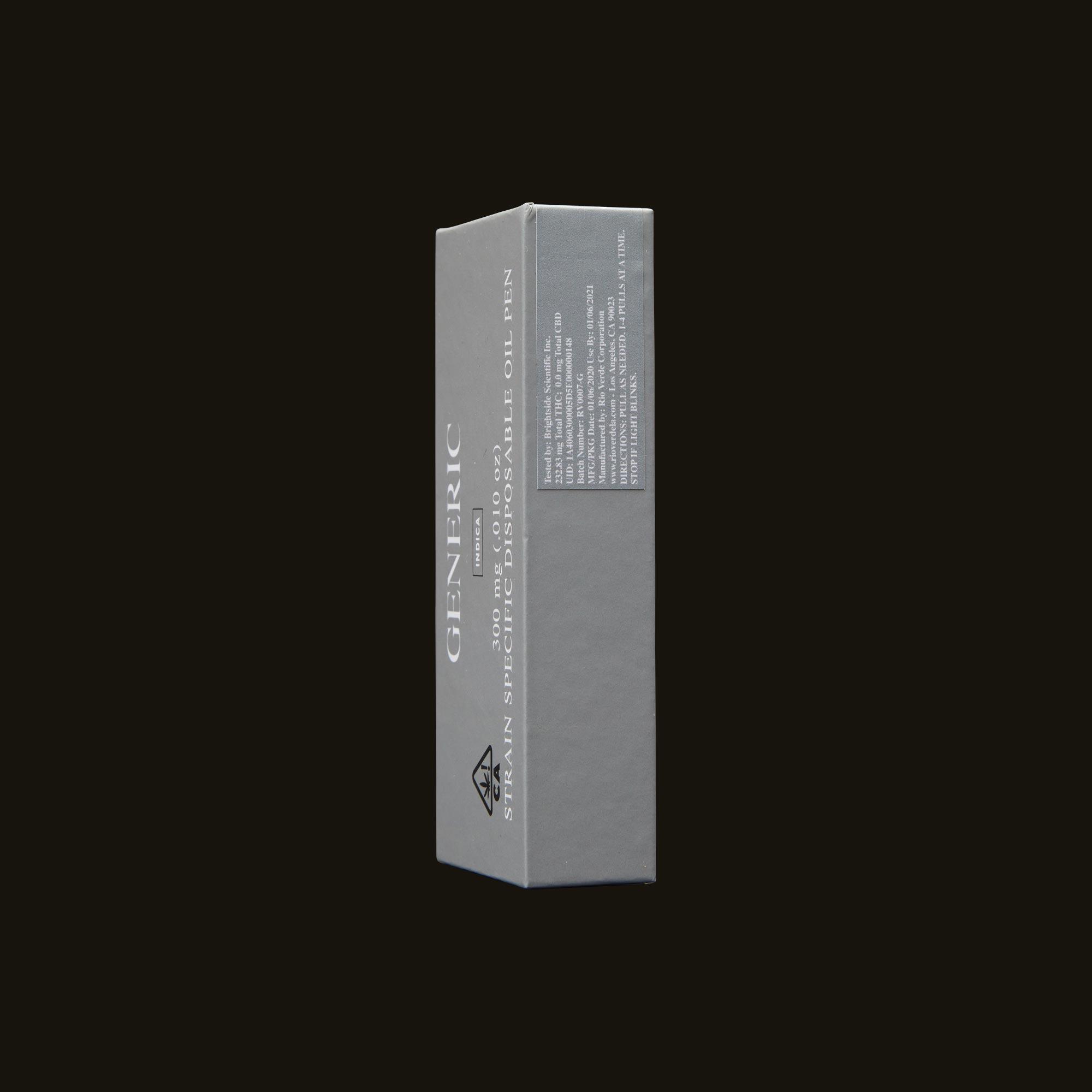 Generic Diamond OG Disposable Side Packaging
