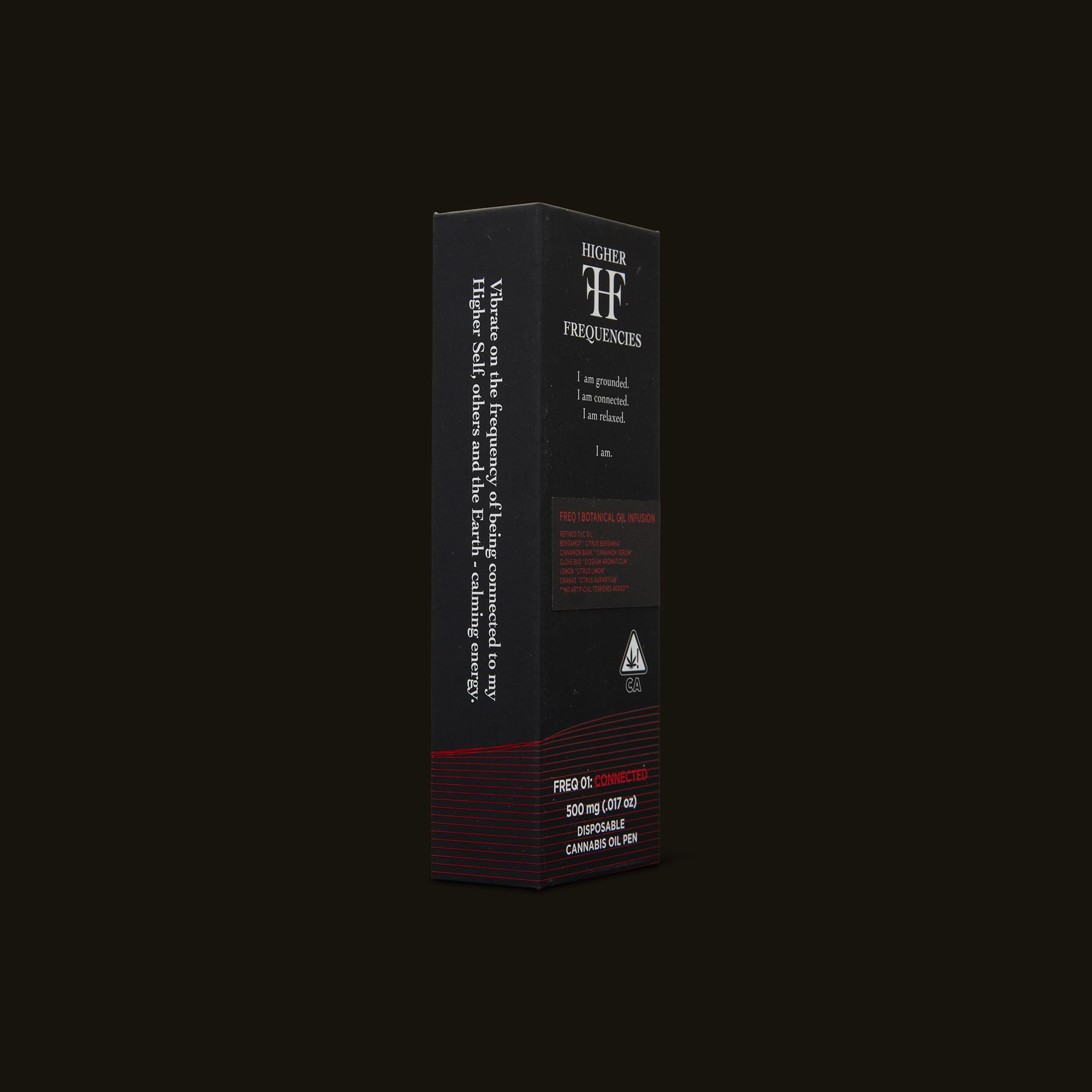 Higher Frequencies Freq 01 Botanical Oil Pen Side Packaging