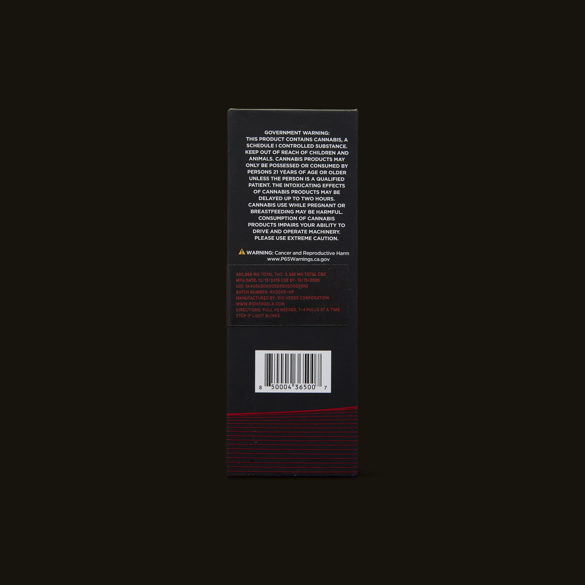 Higher Frequencies Freq 01 Botanical Oil Pen Back Packaging