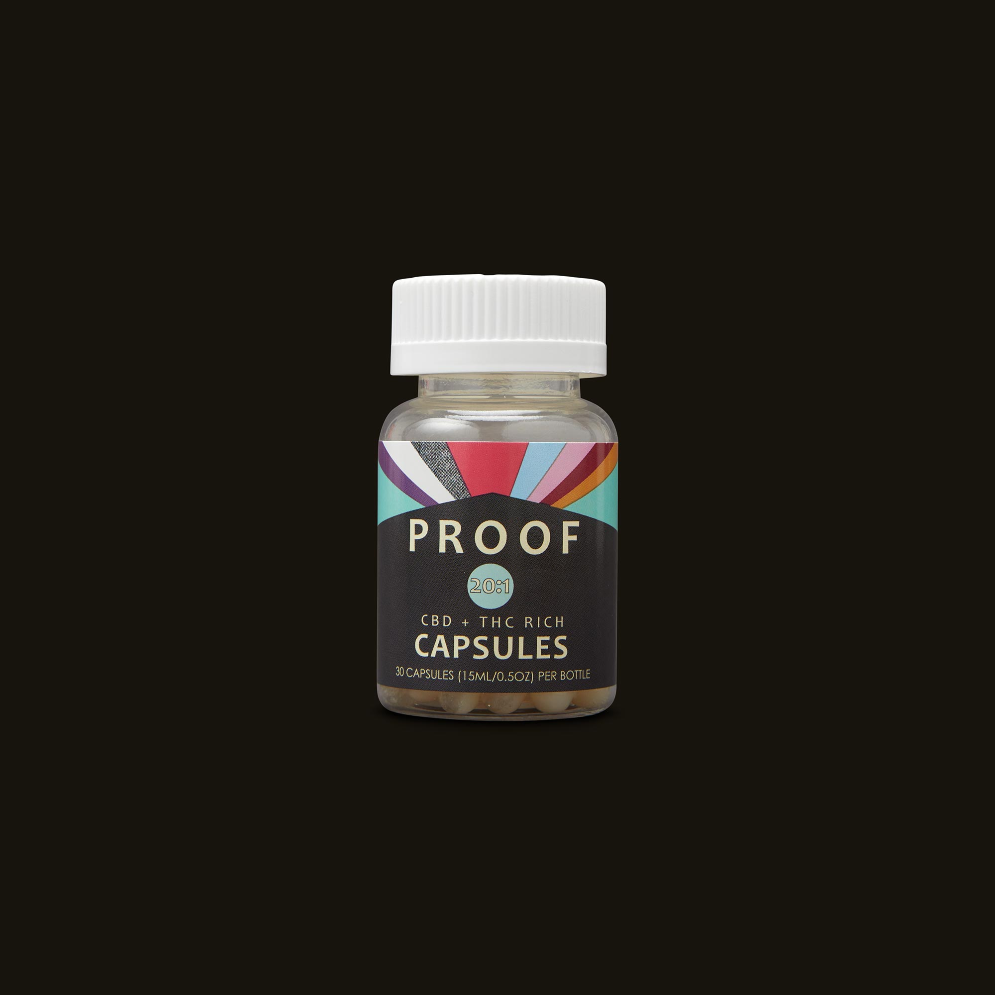 Proof 20:1 CBD:THC Capsules Bottle