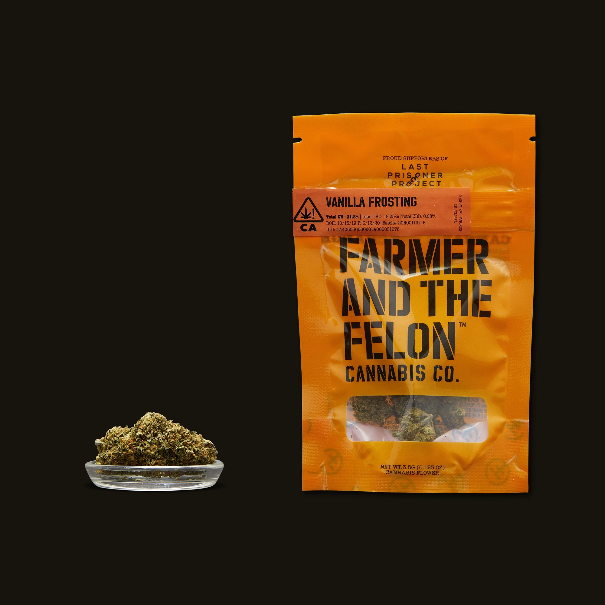 Farmer and the Felon Vanilla Frosting Flower with Packaging