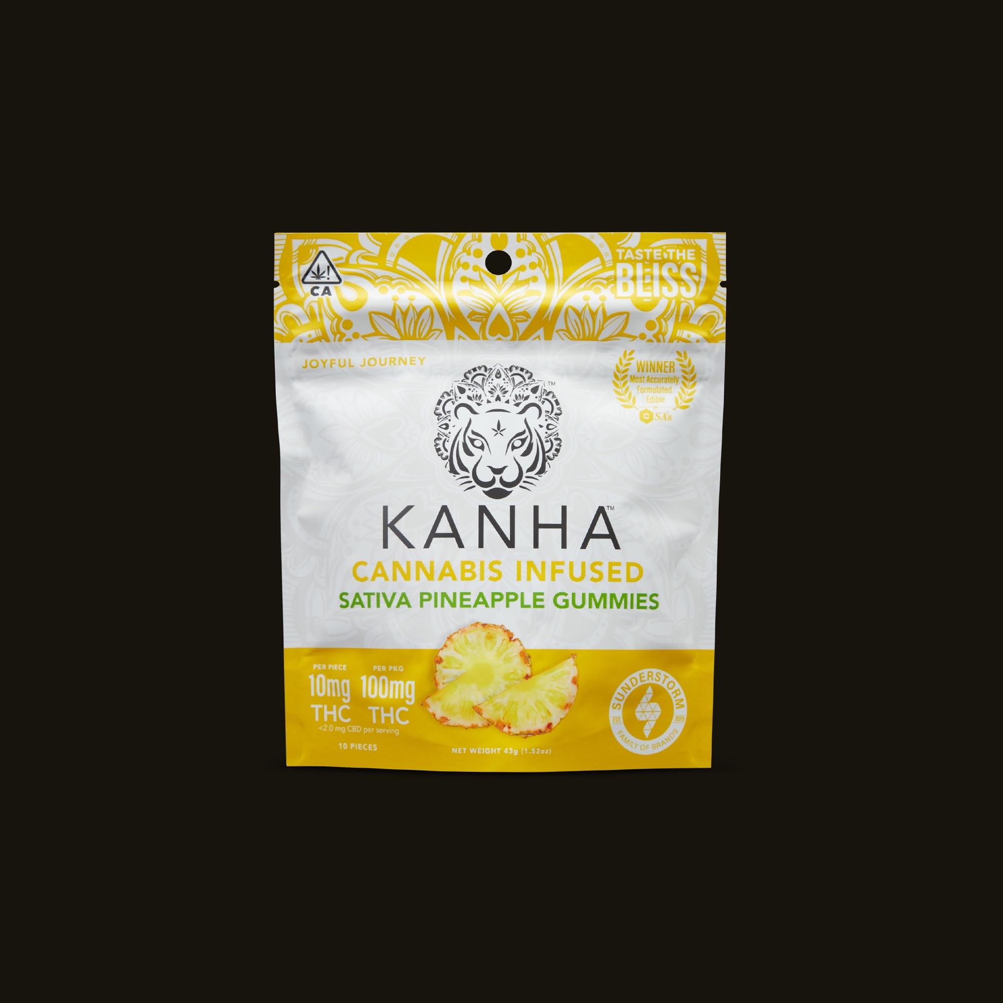 Kanha Pineapple Gummies Front Packaging