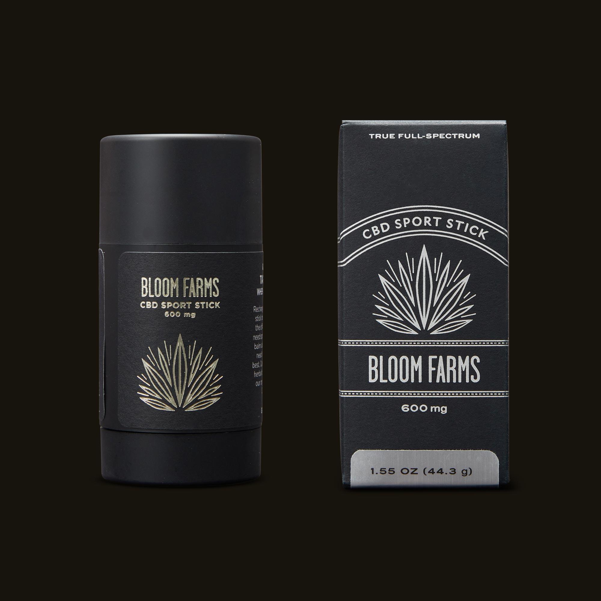 Bloom Farms CBD Sport Stick Packaging