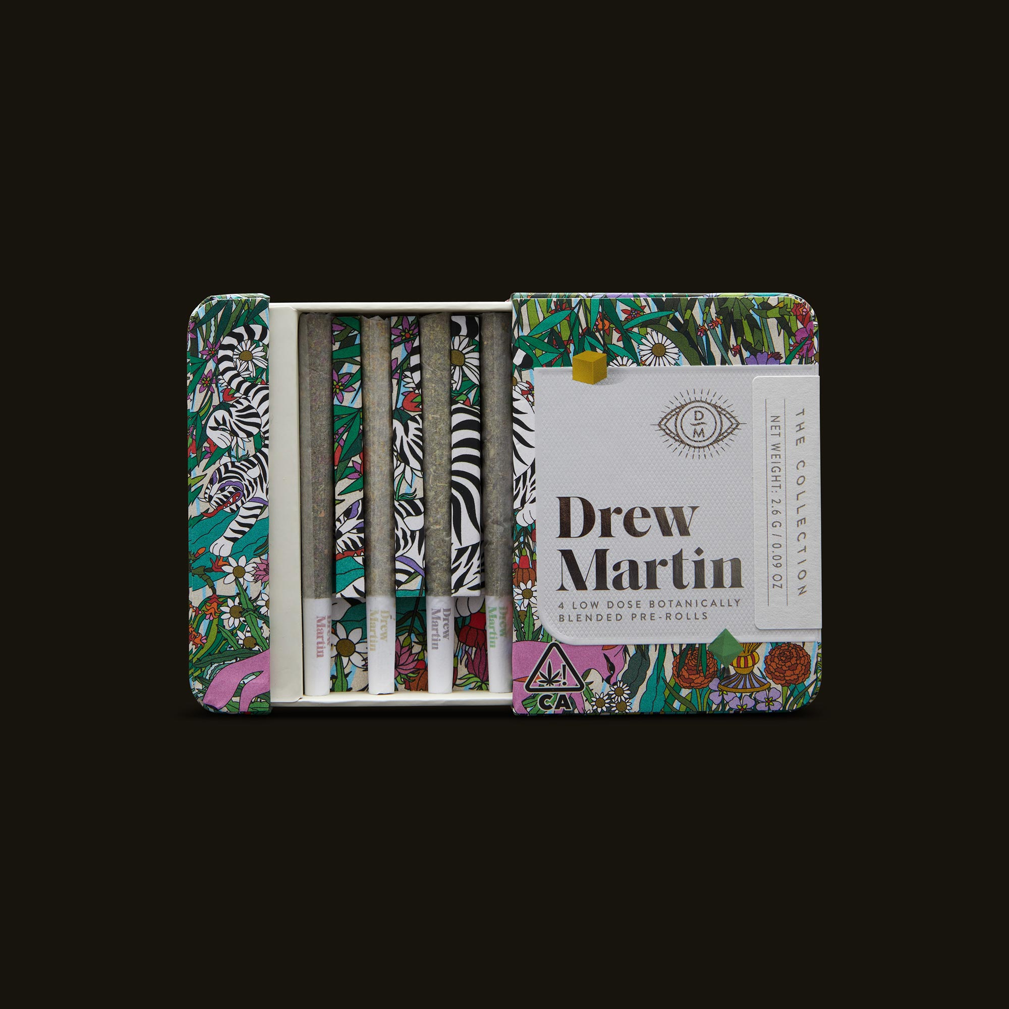 Drew Martin The Collection Pre-Rolls Open Packaging