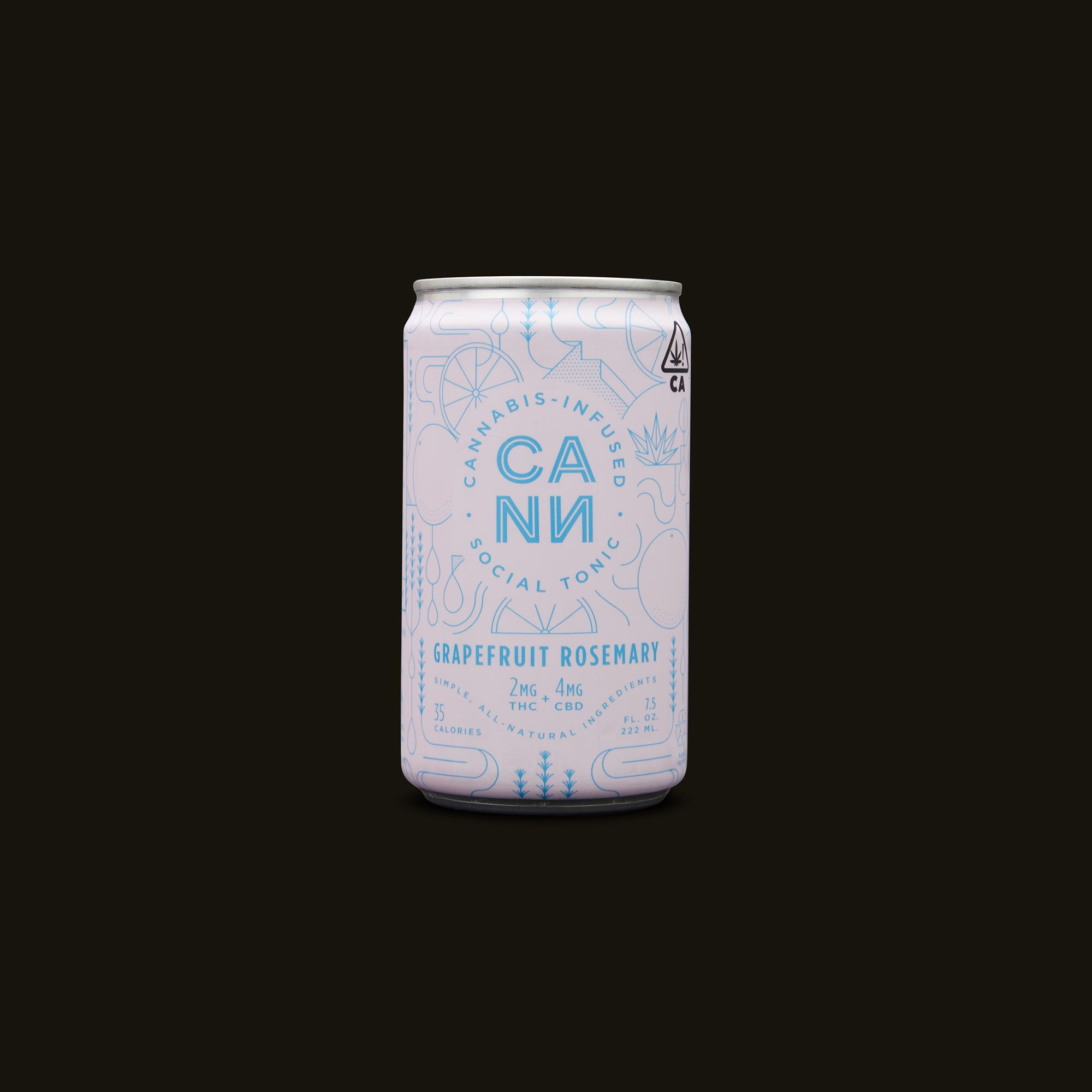 Cann Grapefruit Rosemary Social Tonic Front Can
