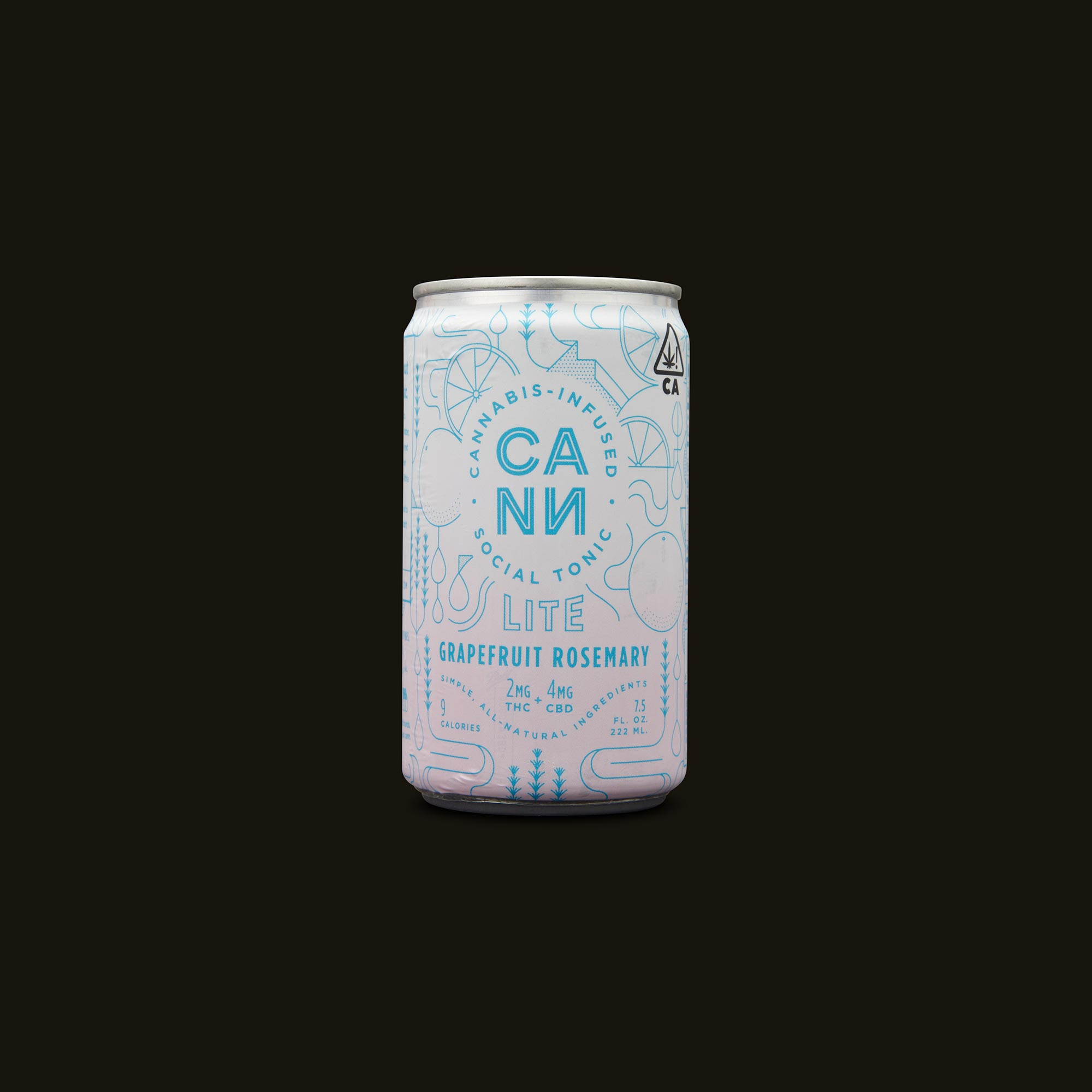 Cann Grapefruit Rosemary Lite Social Tonic Front Can