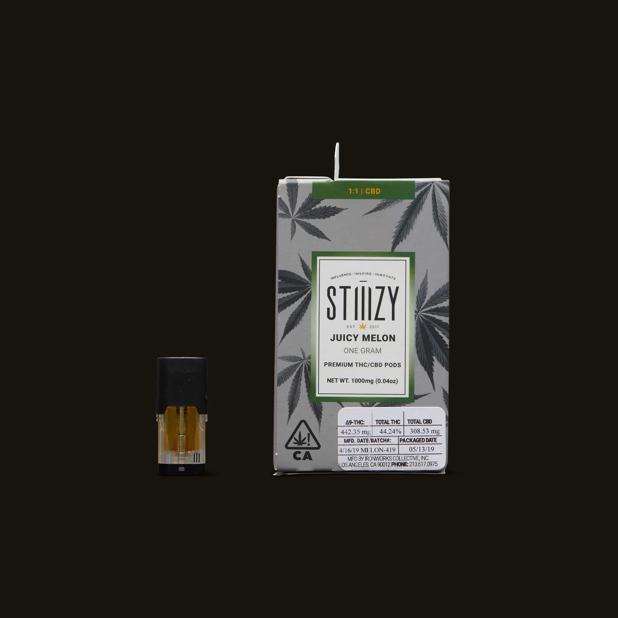Stiiizy Juicy Melon 1:1 THC/CBD POD