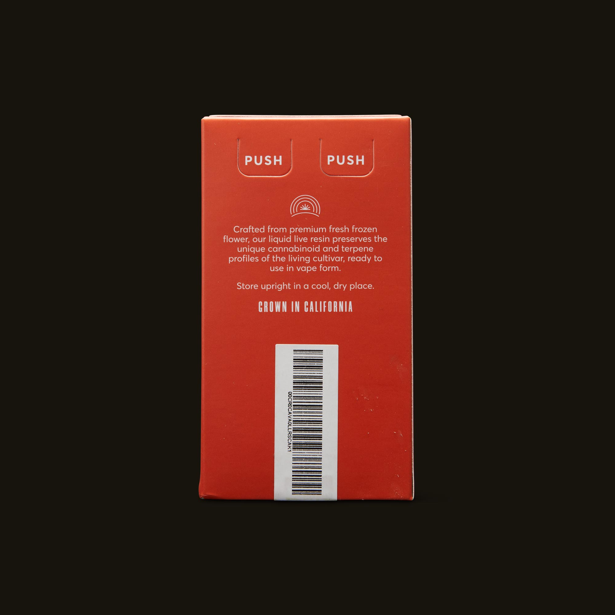 Cresco Cherry AK Liquid Live Resin Cartridge Back Packaging