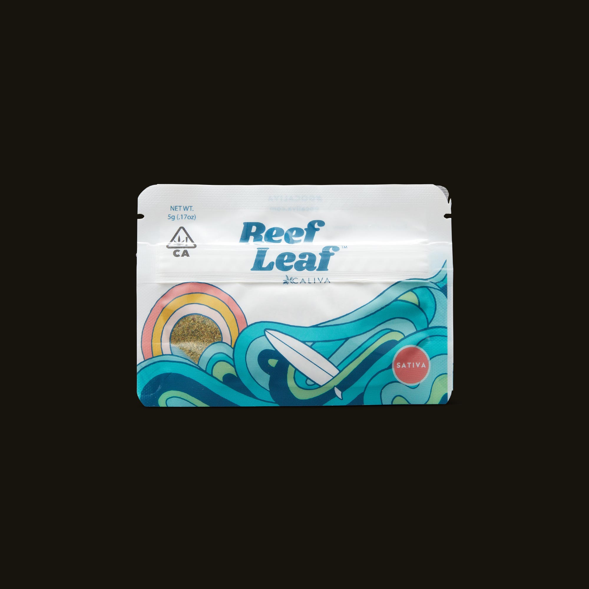 Caliva Reef Leaf Sativa Front Packaging