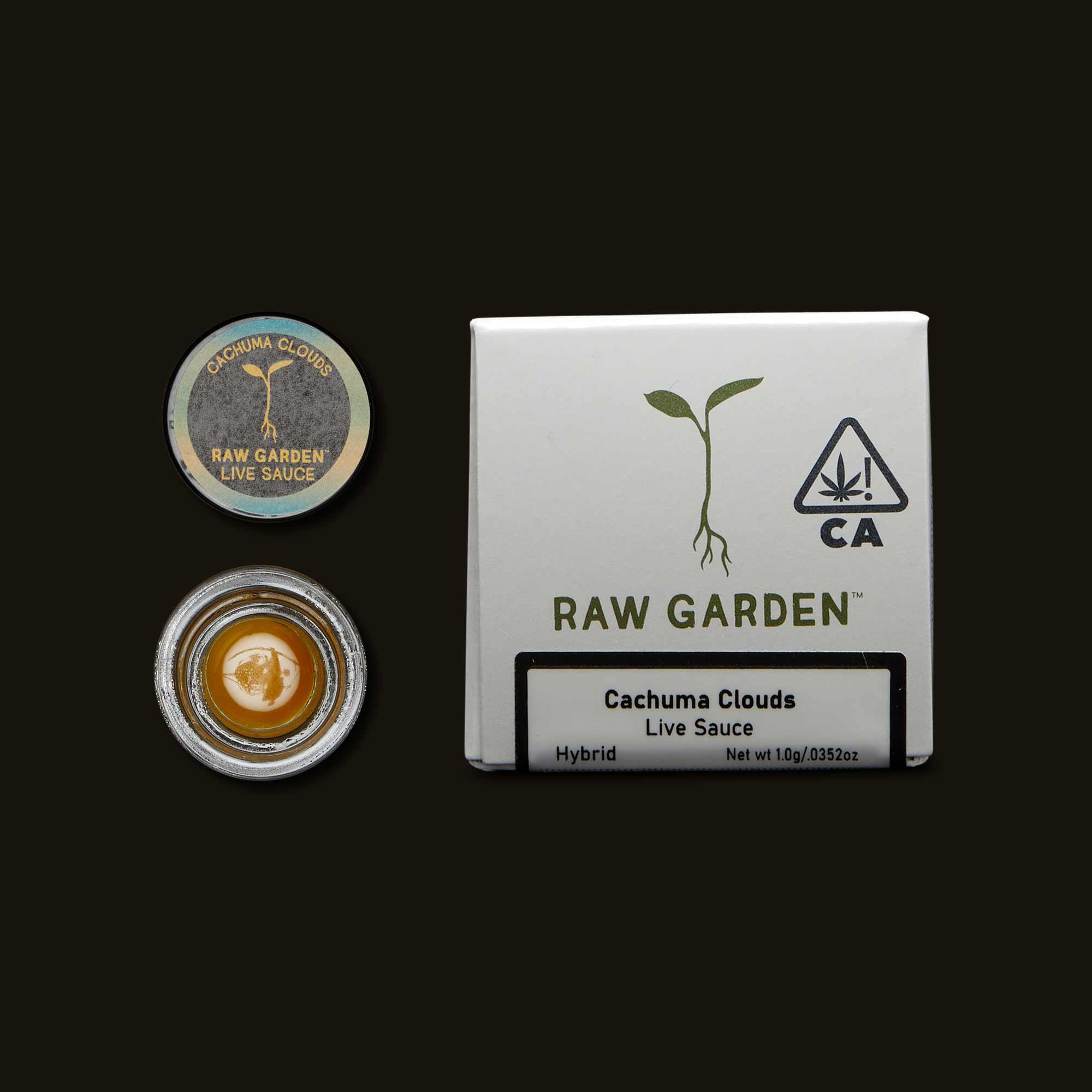 Cachuma Clouds Raw Garden's Live Sauce package and open jar