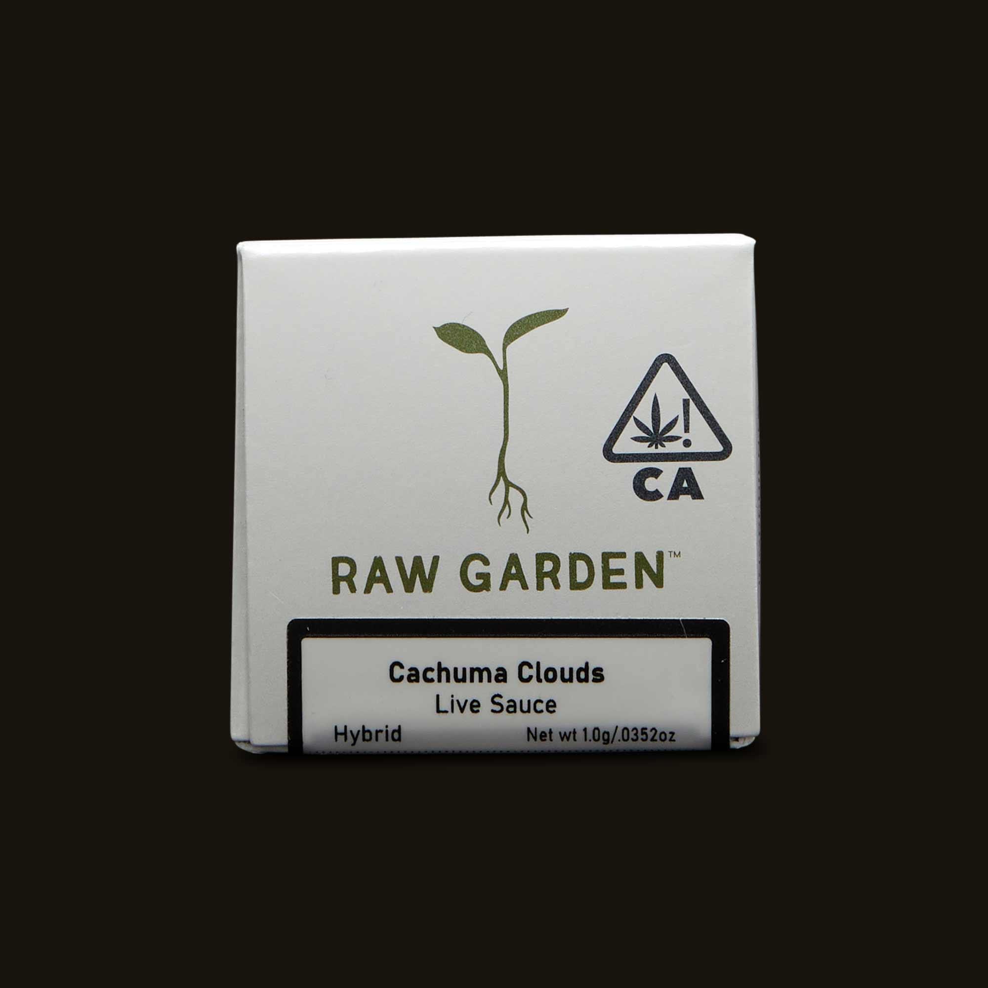 Closed box Raw Garden Cachuma Clouds Live Sauce