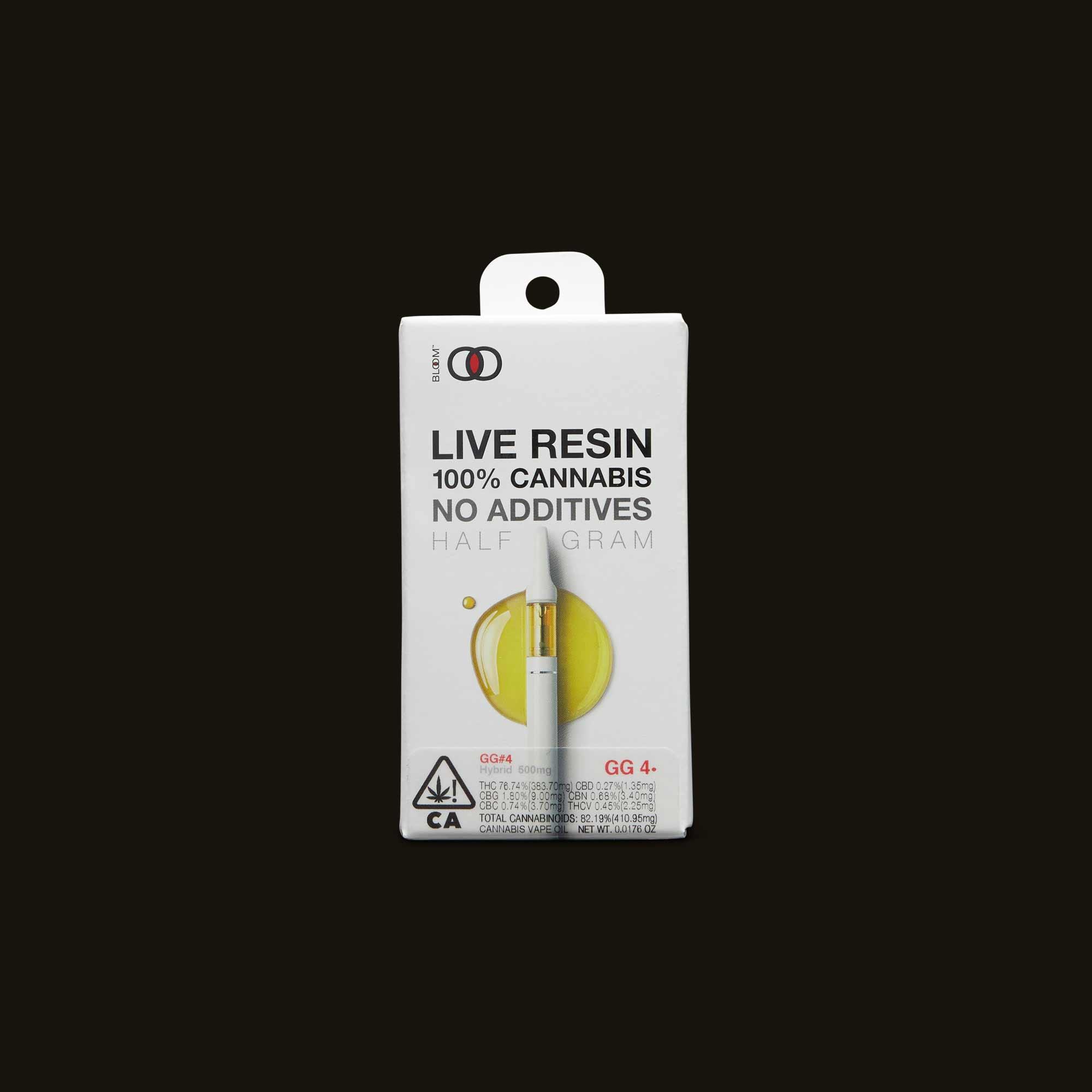GG#4 Live Resin Cartridge - .5g - 500mg cartridge