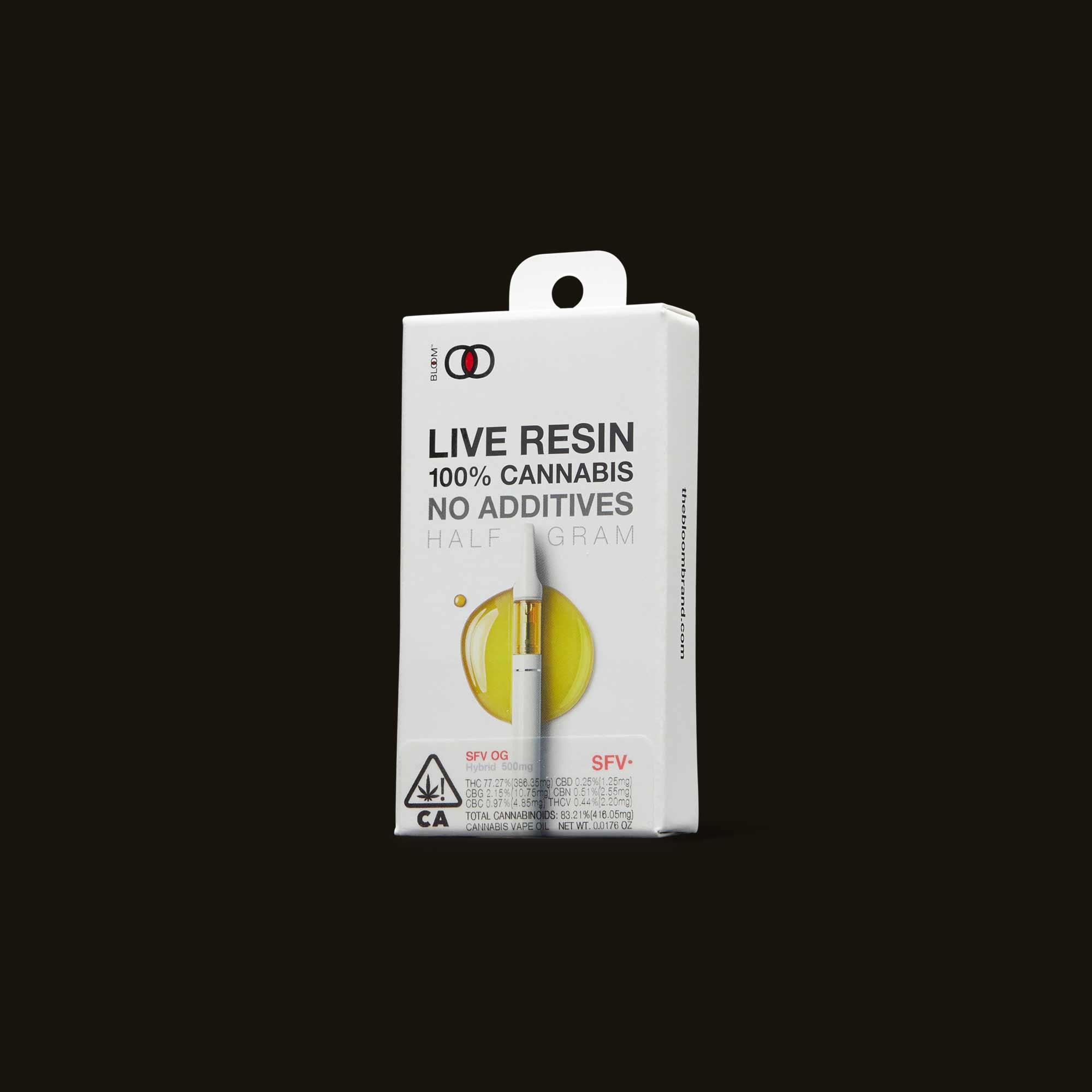 Bloom Brands Vape Pen - SFV OG Live Resin Cartridge - .5g