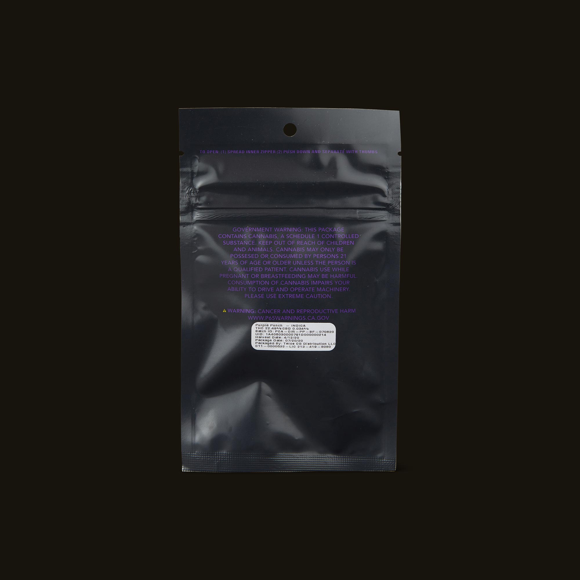 Circles Purple Punch Base Camp Back Packaging
