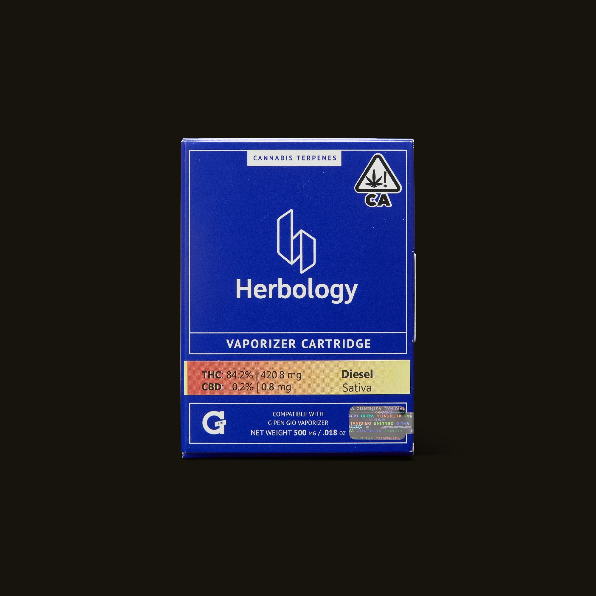 Herbology Diesel Gio Pod Front Packaging