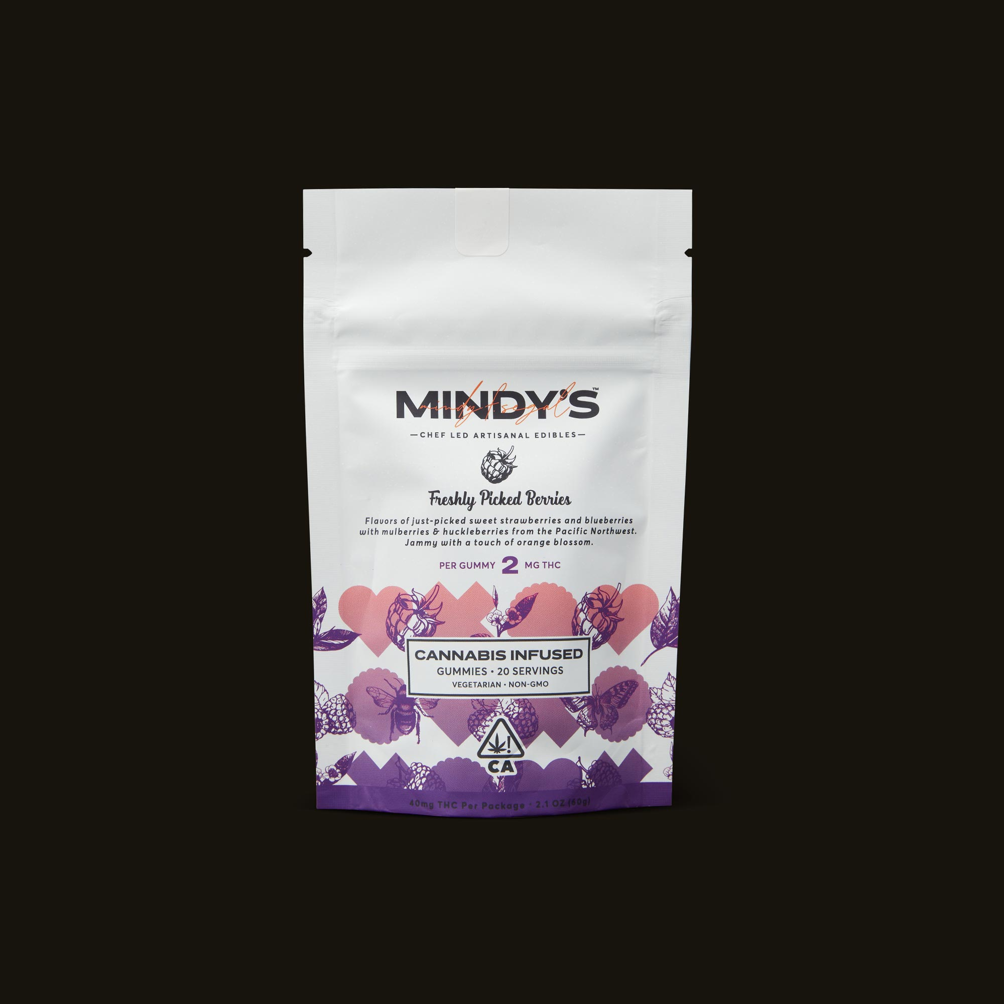 Mindy's Artisanal Edibles Freshly Picked Berries Front Packaging