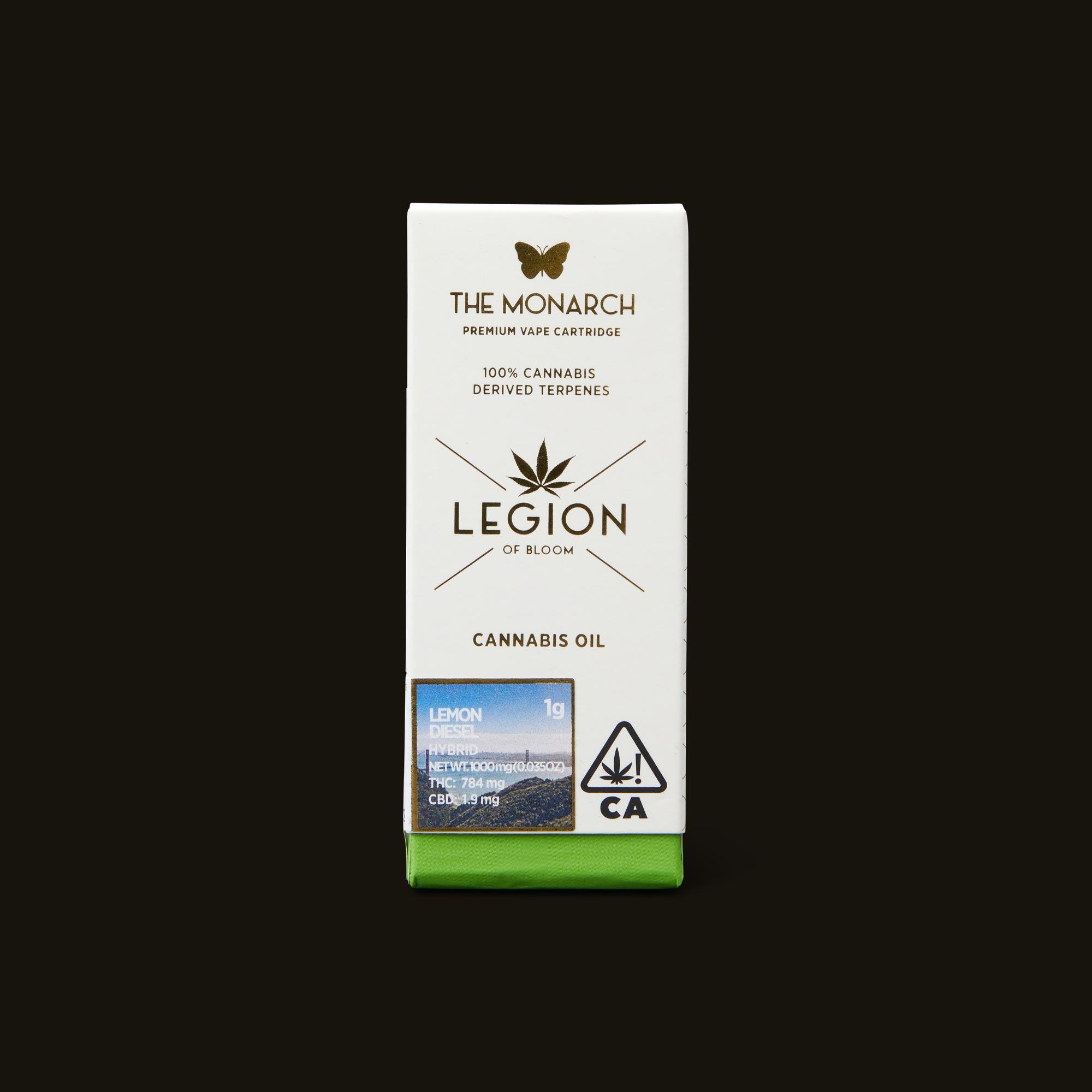 Legion of Bloom Lemon Diesel Monarch Front Packaging