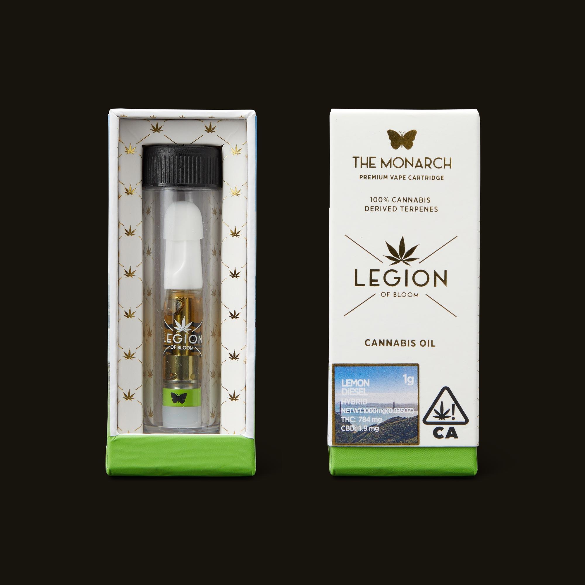 Legion of Bloom Lemon Diesel Monarch Open Packaging