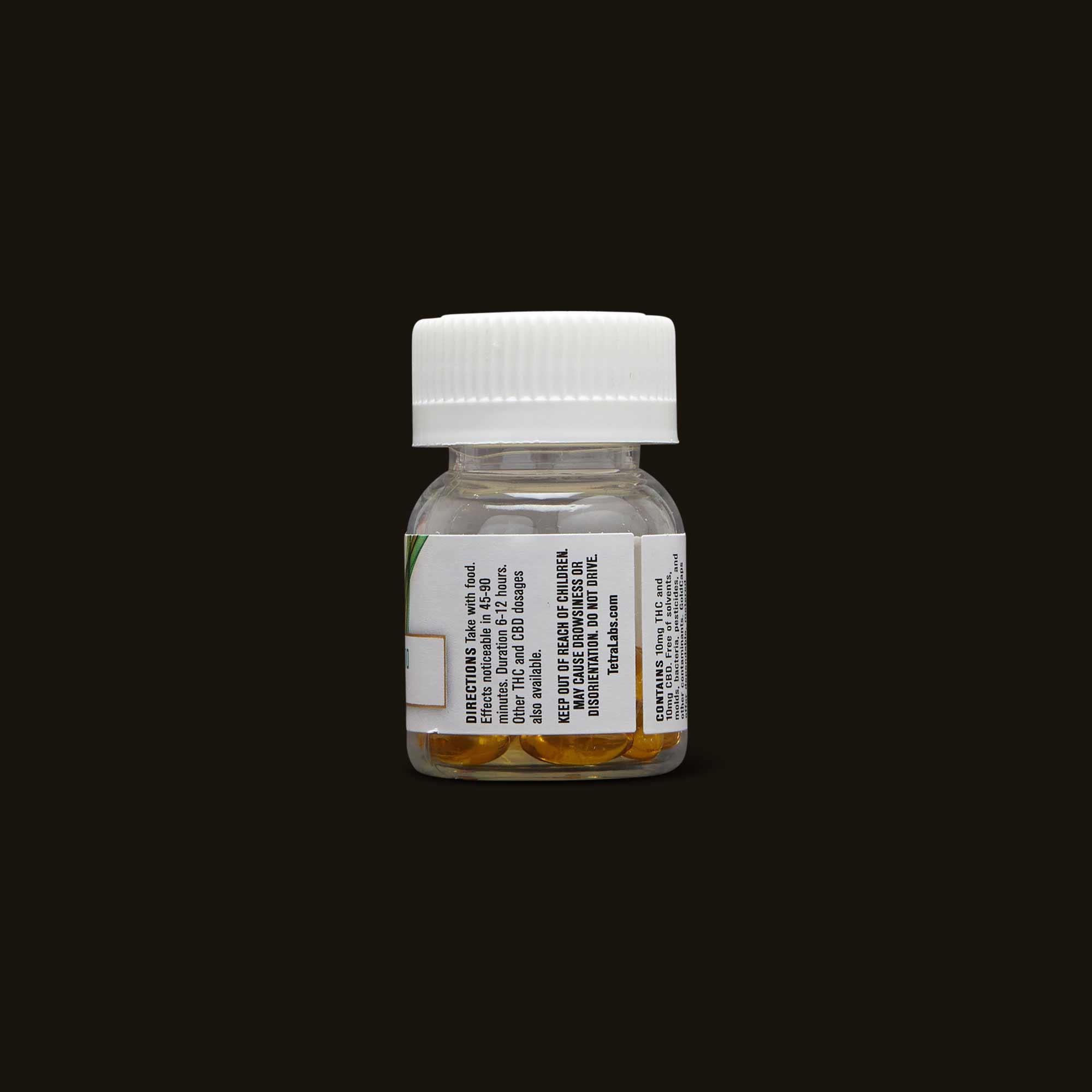 1:1 THC:CBD GoldCaps by TetraLabs