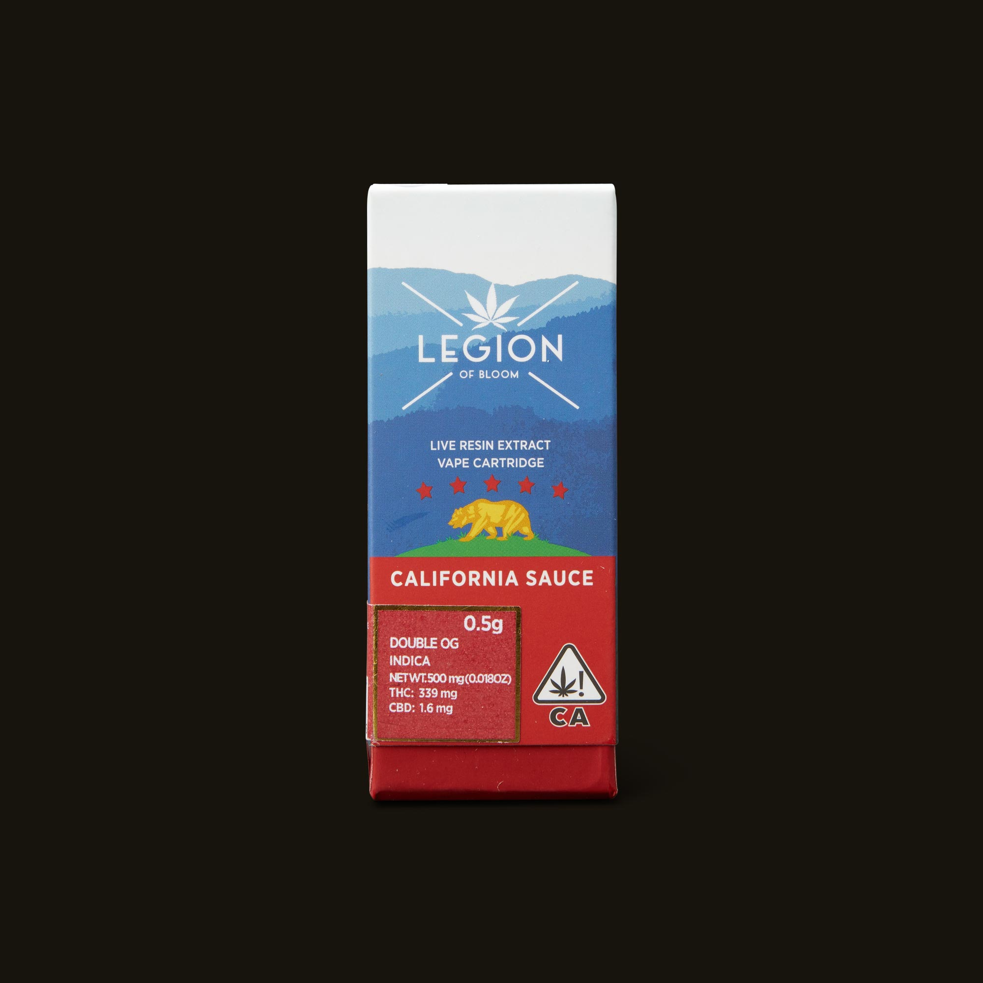 Legion of Bloom Double OG California Sauce Cartridge Front Packaging
