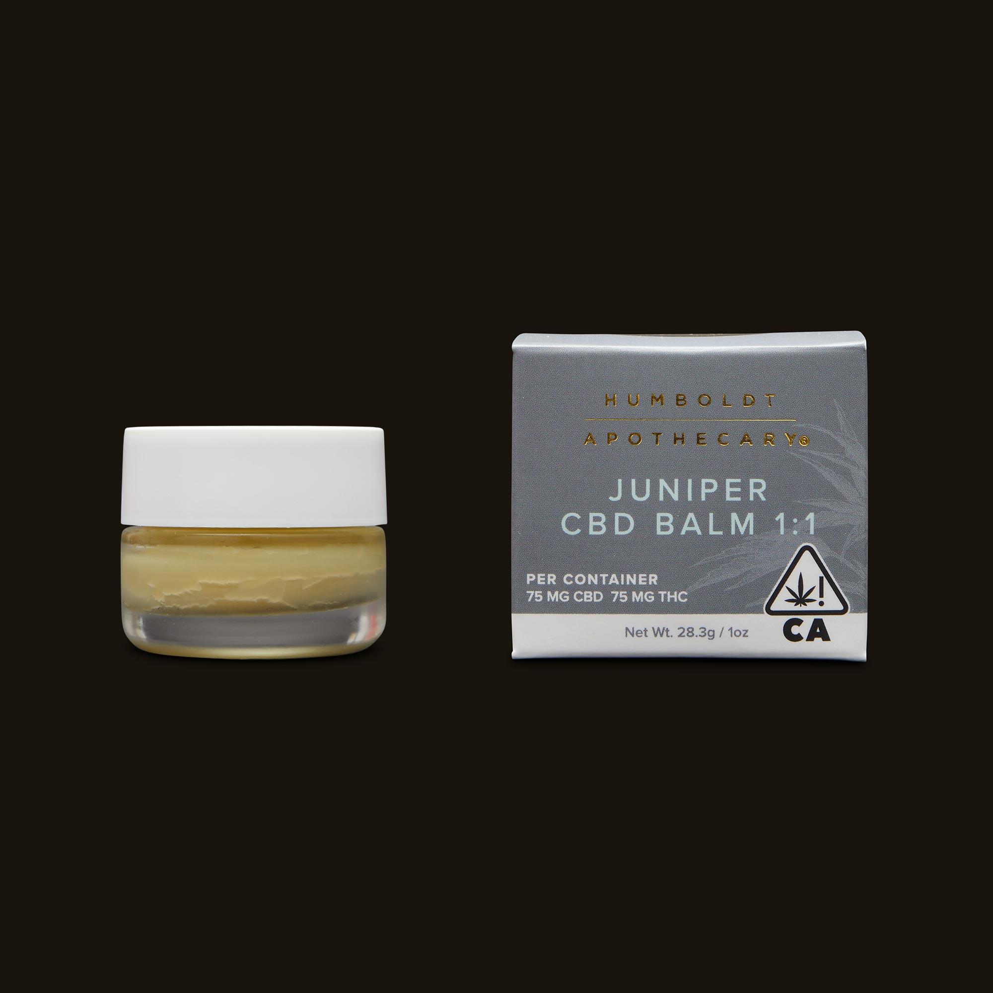 Humboldt Apothecary Juniper CBD Balm Jar and Packaging