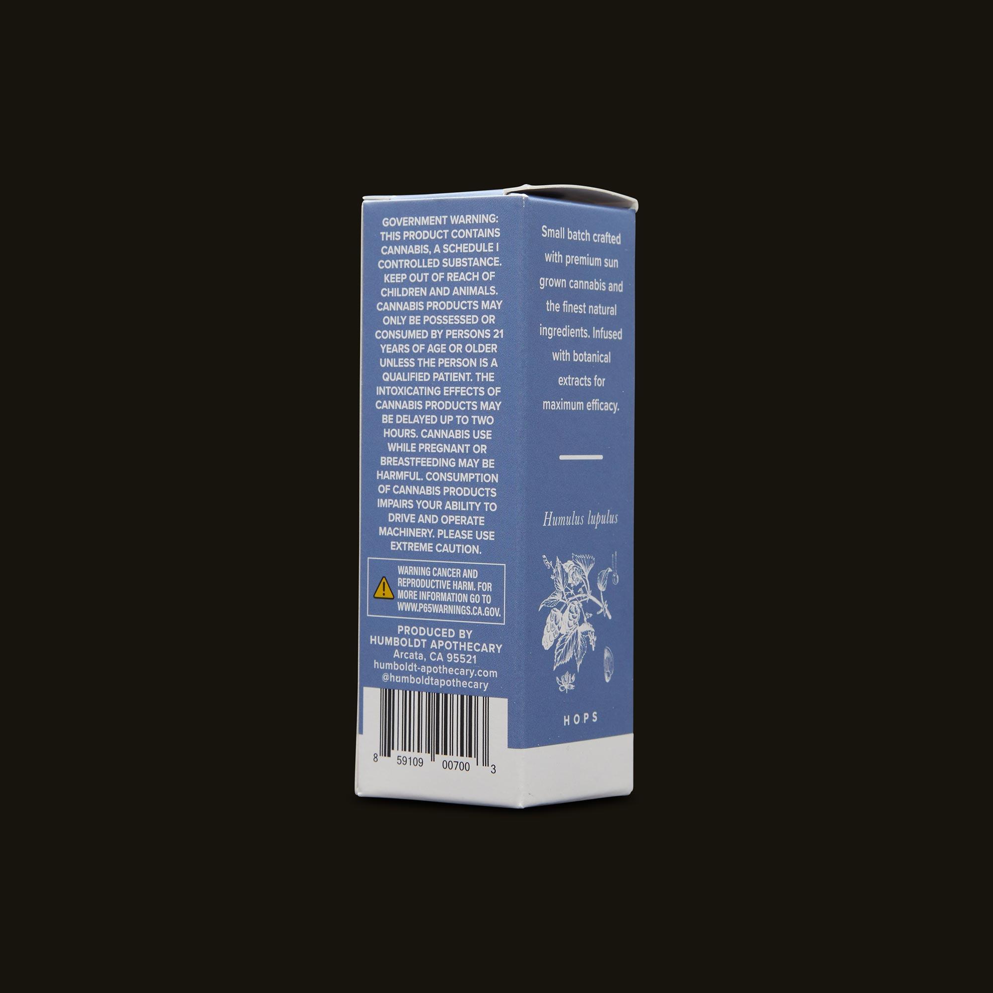 Humboldt Apothecary Deep Sleep Side Packaging
