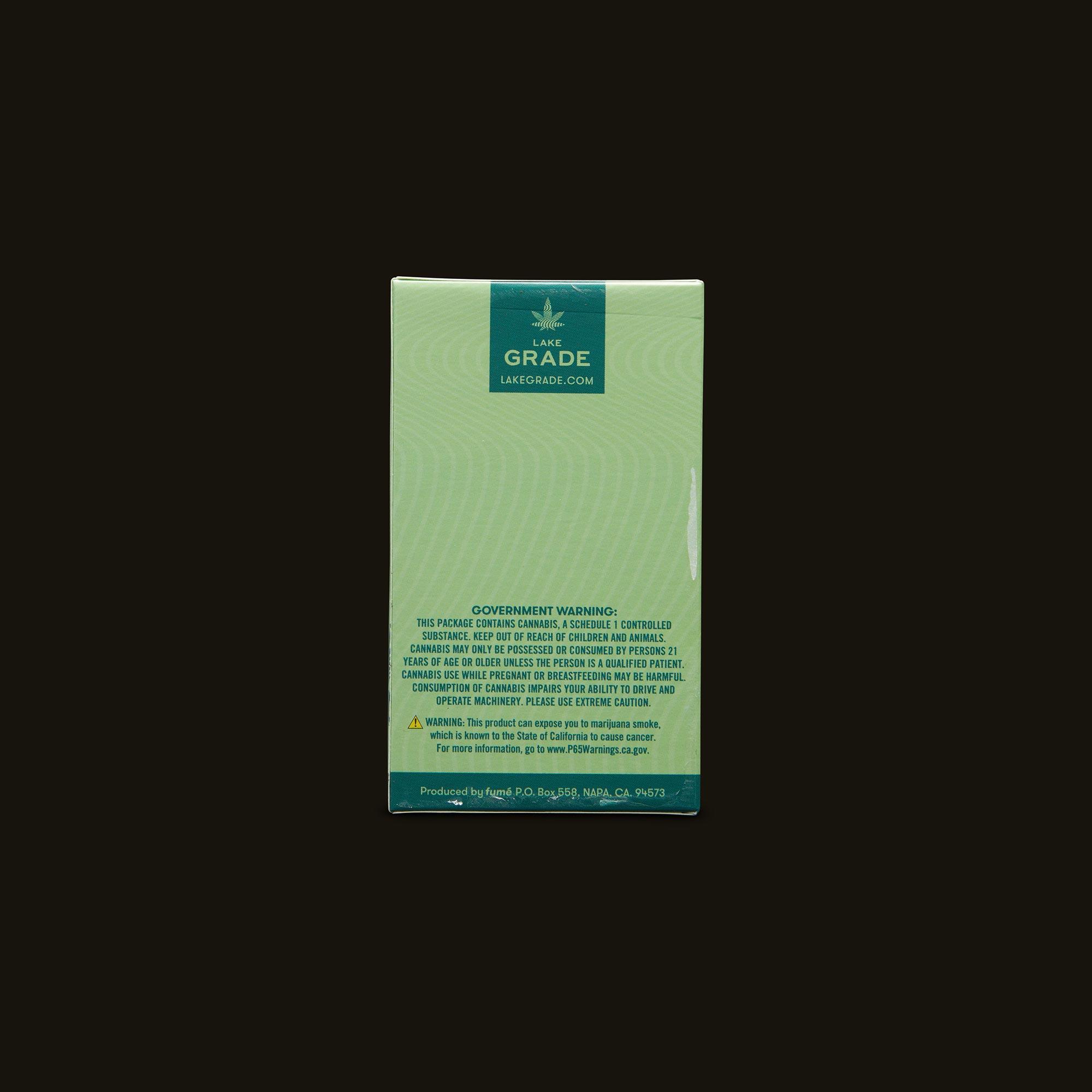 Lakegrade Banana Kush Pre-Roll 5-Pack Back Packaging
