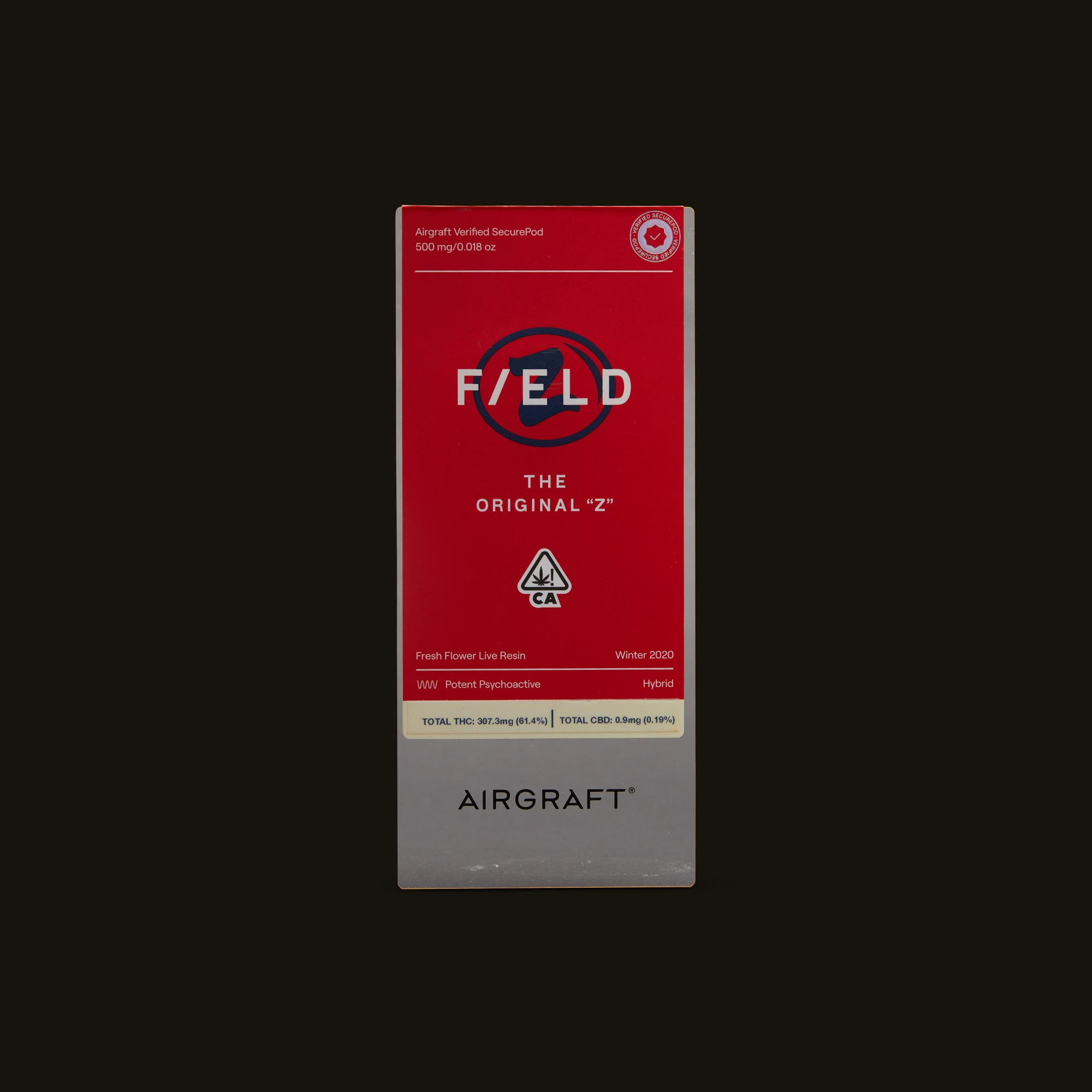 """Field Extracts The Original """"Z"""" Airgraft Pod Front Packaging"""