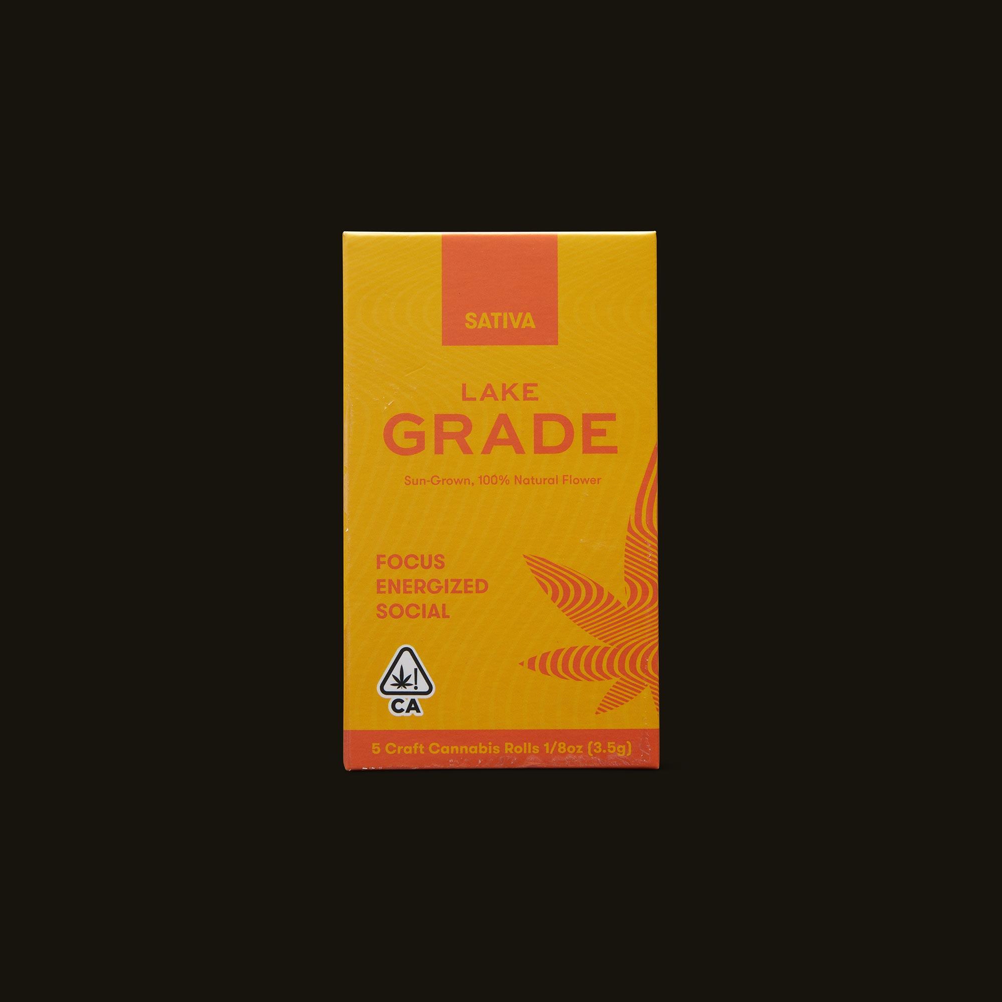 Lakegrade Lemon Sour Diesel Pre-Roll 5-Pack Front