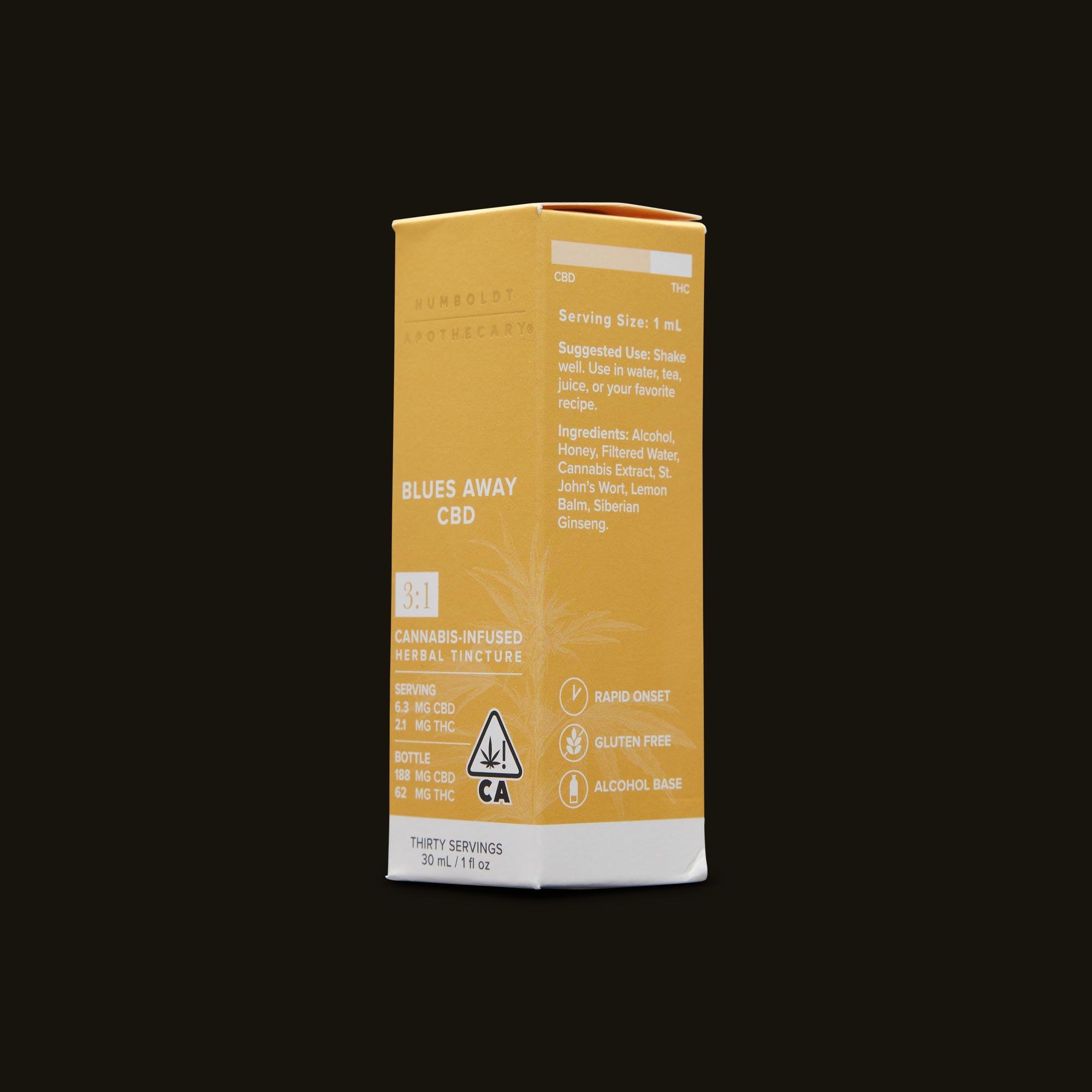 Humboldt Apothecary Blues Away CBD 3:1 Ingredients