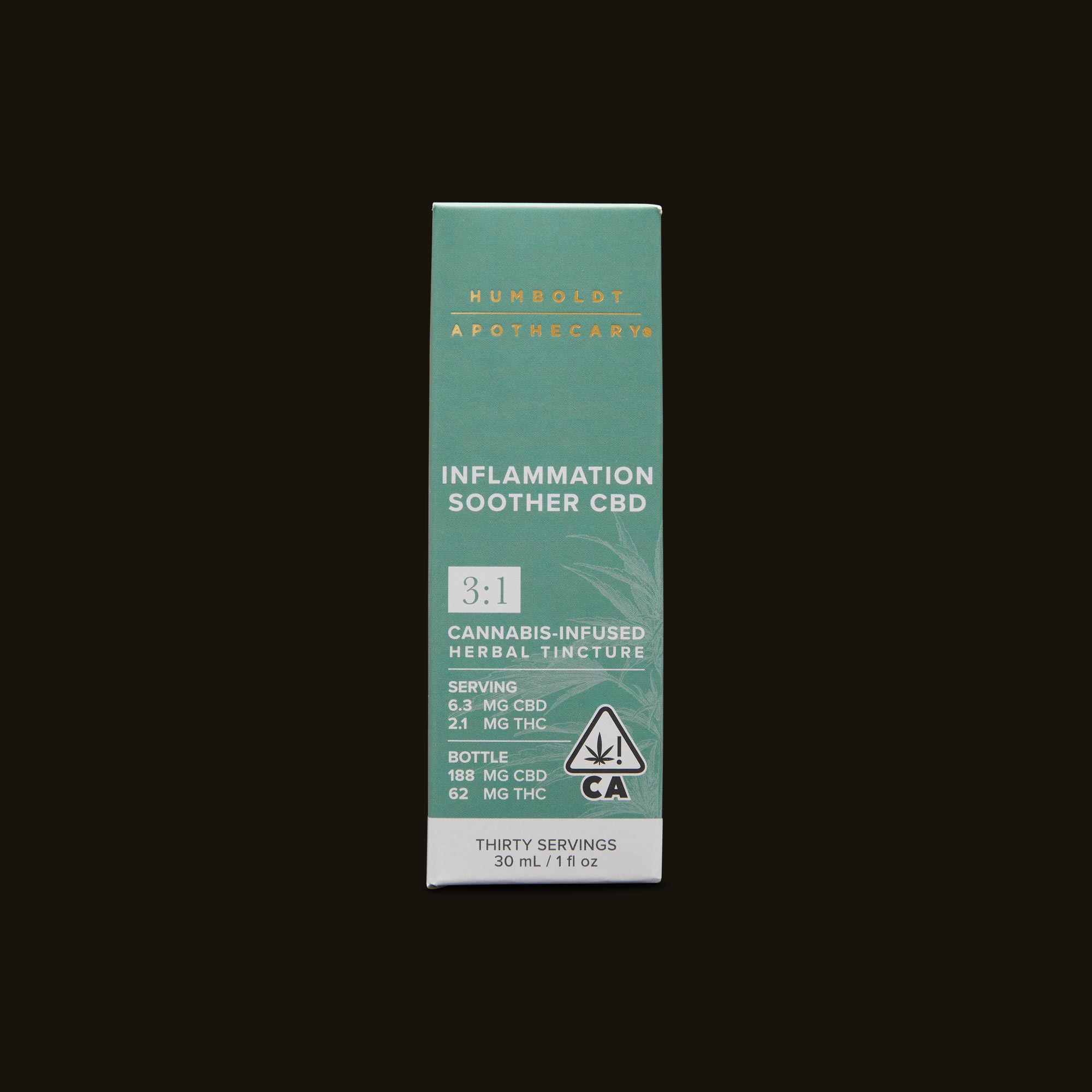 Humboldt Apothecary Inflammation Soother CBD 3:1 Front Packaging