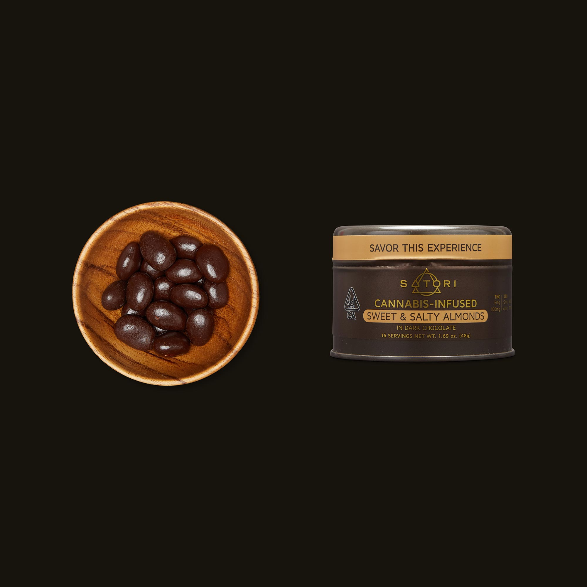 Satori Chocolates Sweet and Salty Almonds