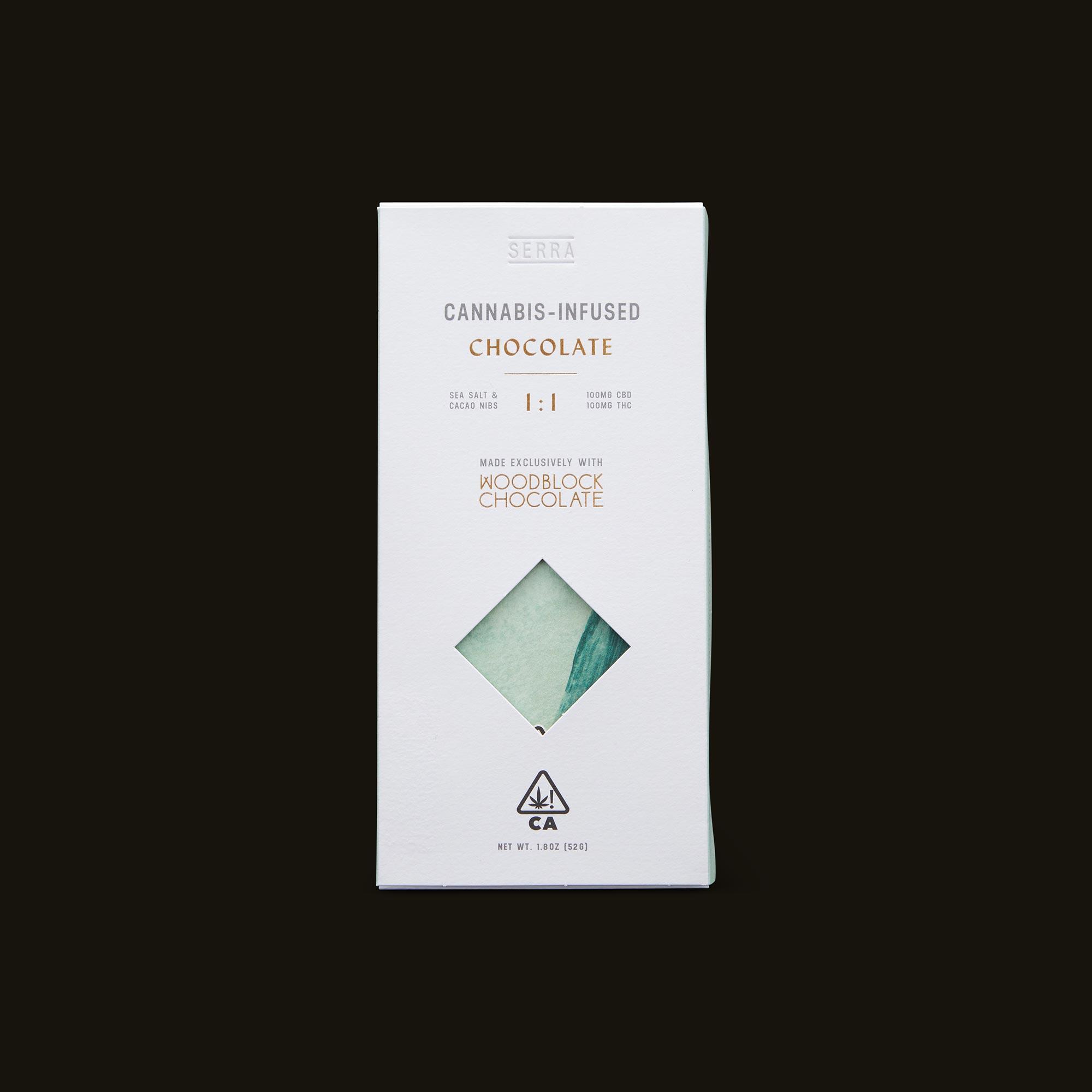 Serra Creativity 1:1 Salted Cacao Nib Chocolate Front Packaging