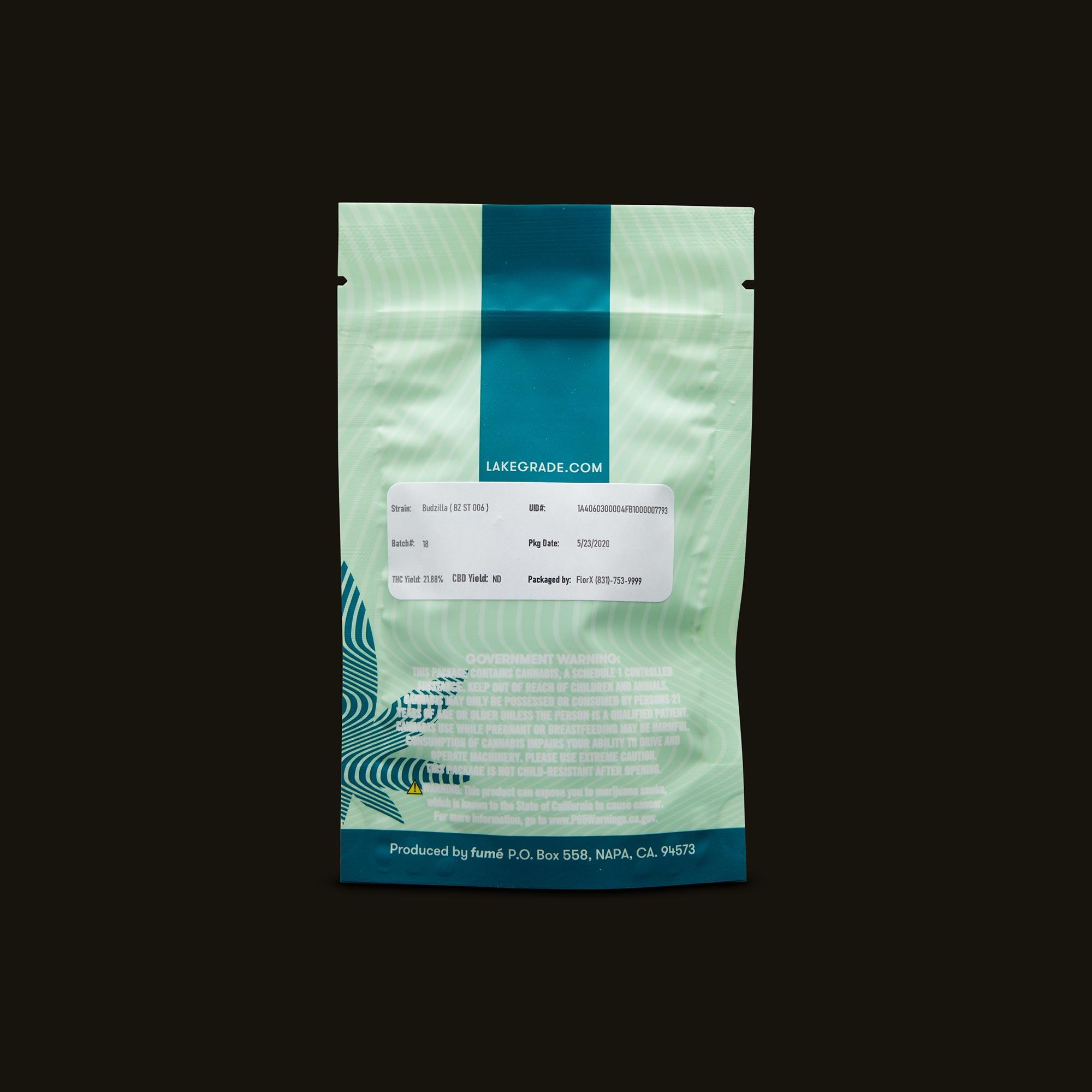 Lakegrade Budzilla Back Packaging