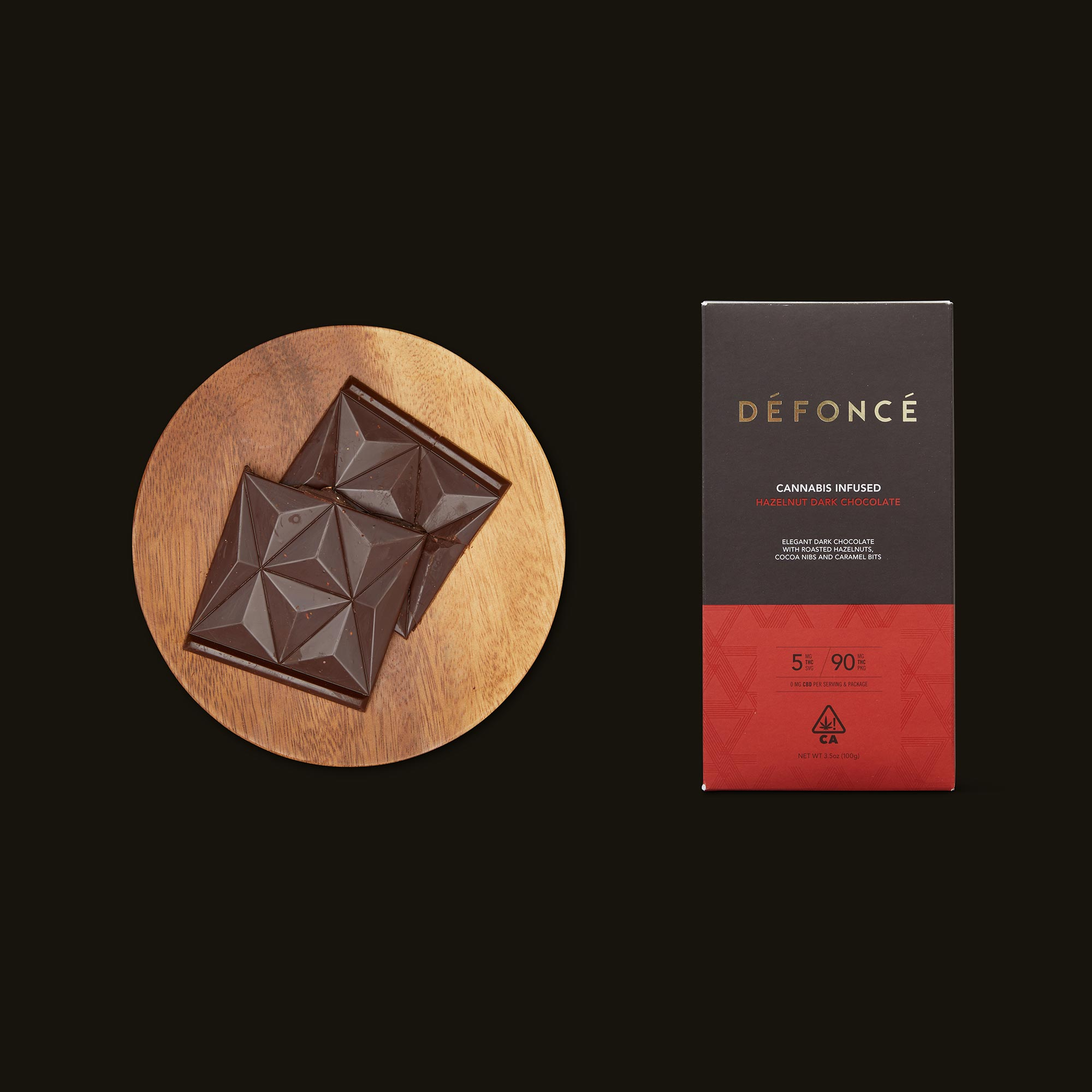 Défoncé Hazelnut Dark Chocolate Bar