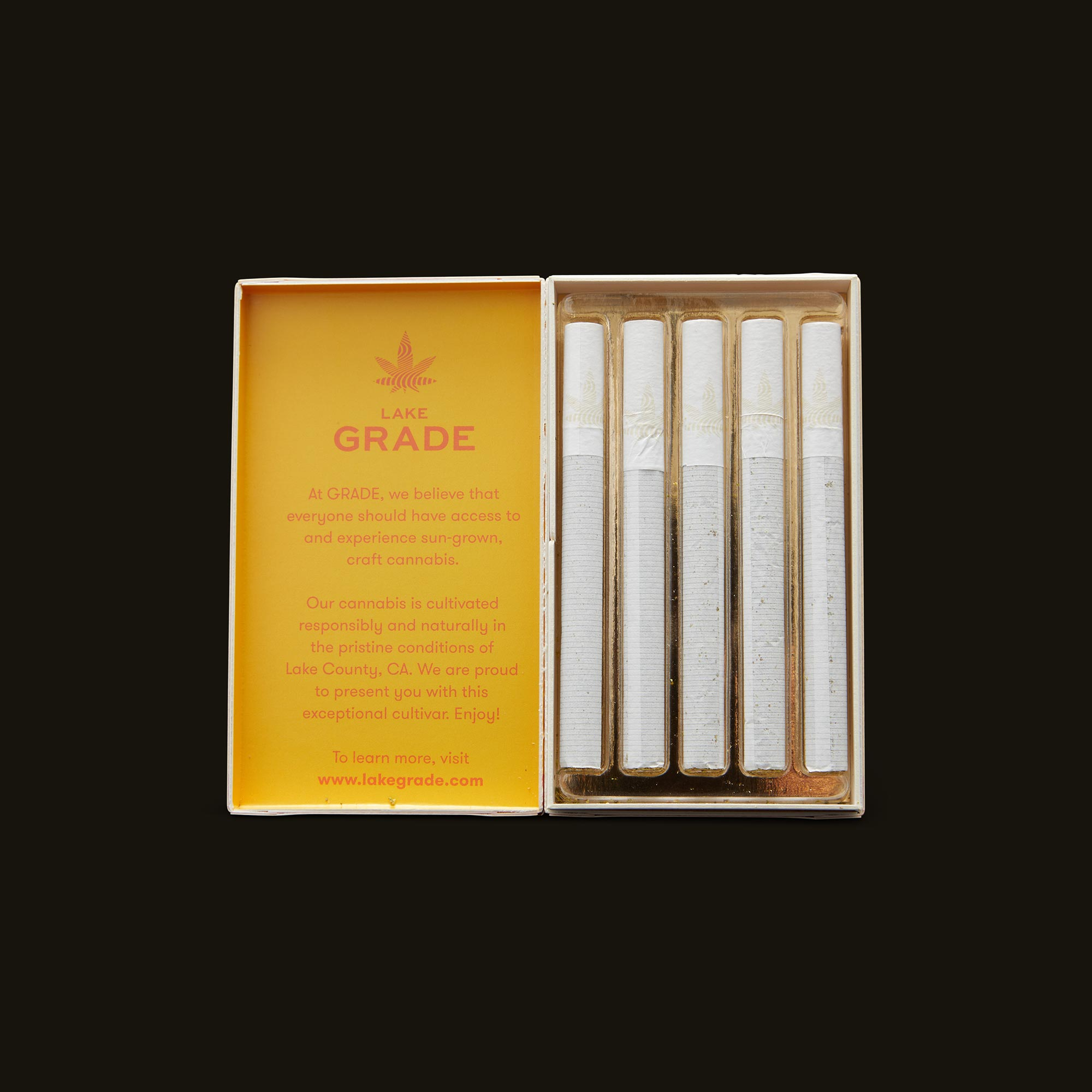 Lakegrade Lemon Sour Diesel Pre-Roll 5-Pack Open