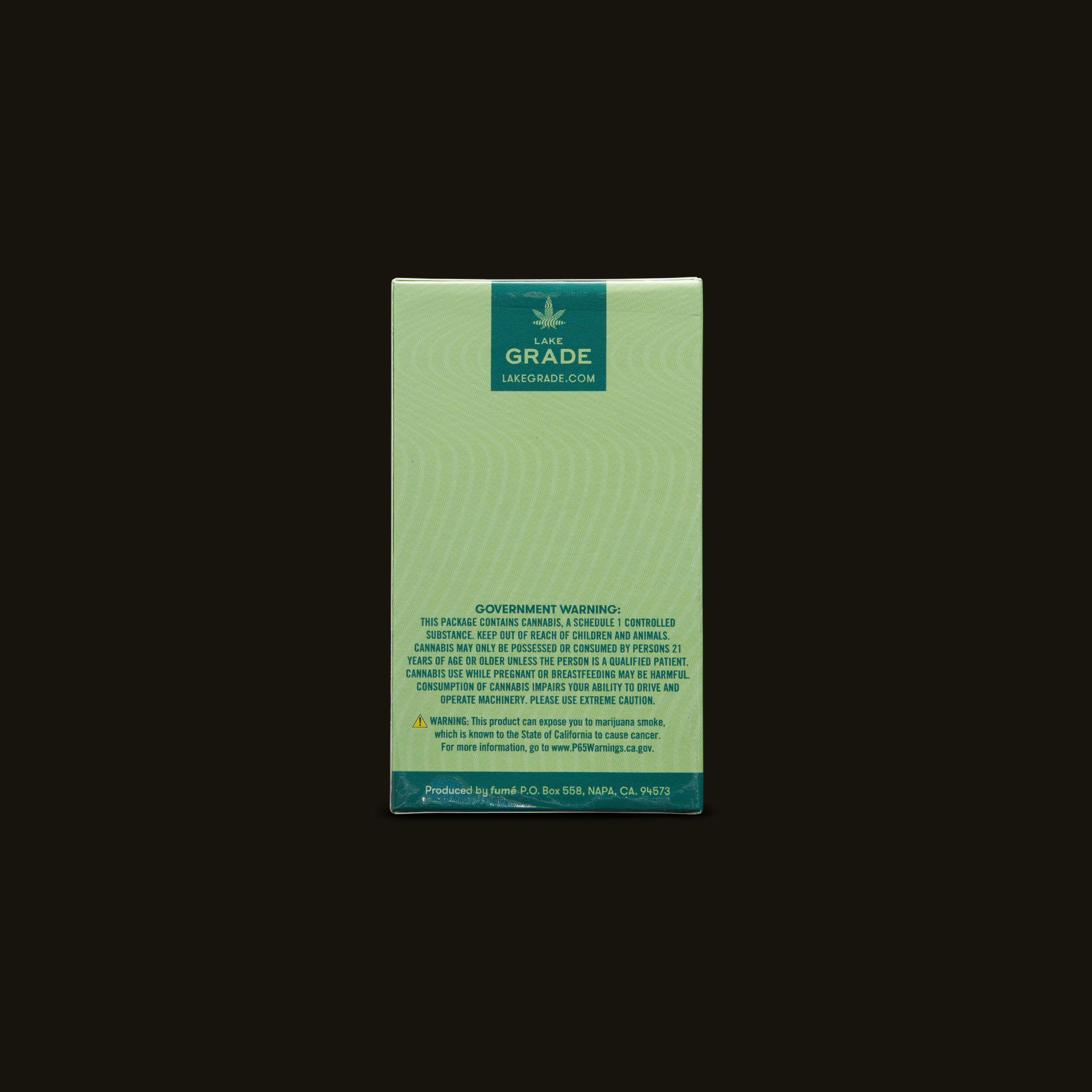 Lakegrade Budzilla Pre-Roll 5-Pack Back Packaging