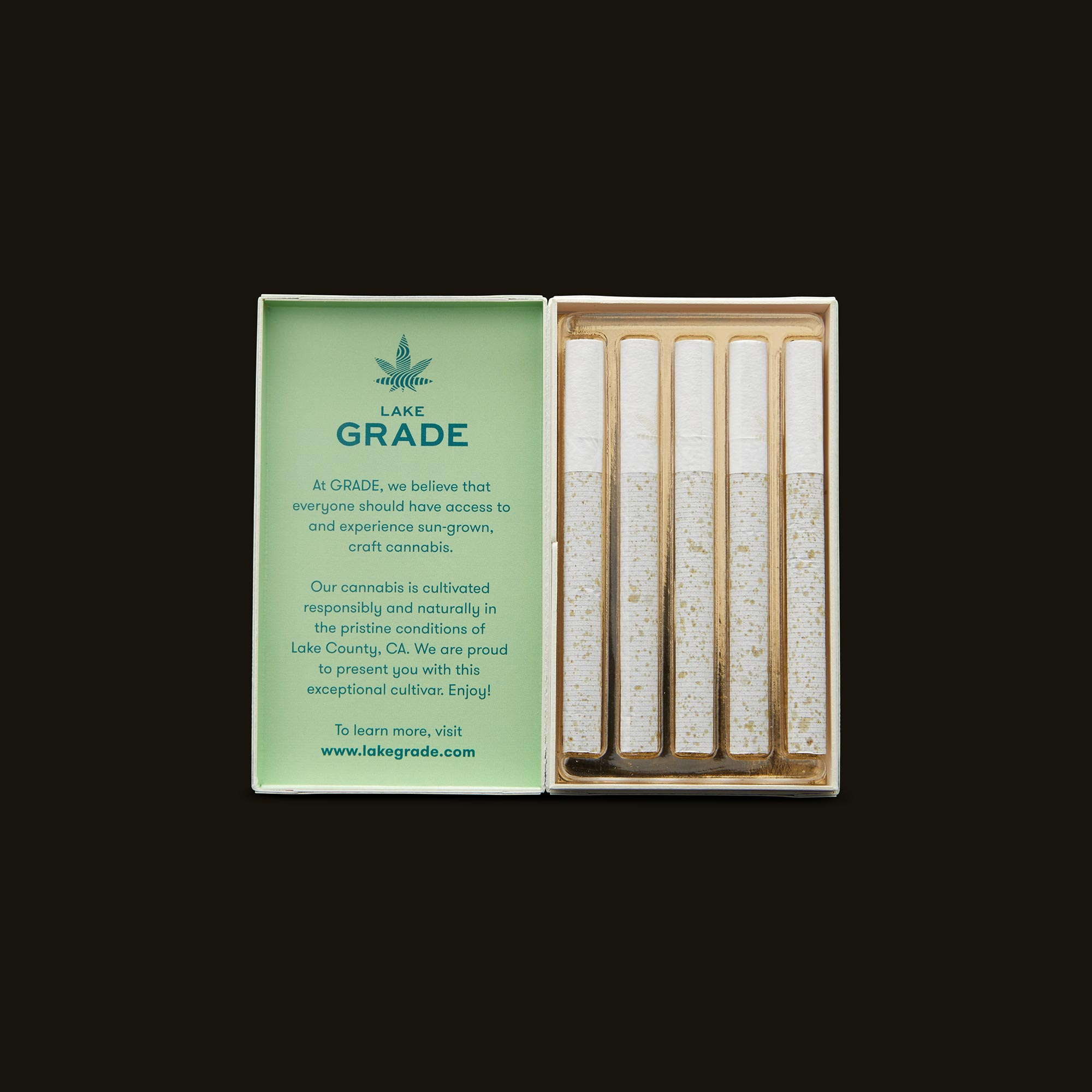 Lakegrade Budzilla Pre-Roll 5-Pack Open Packaging