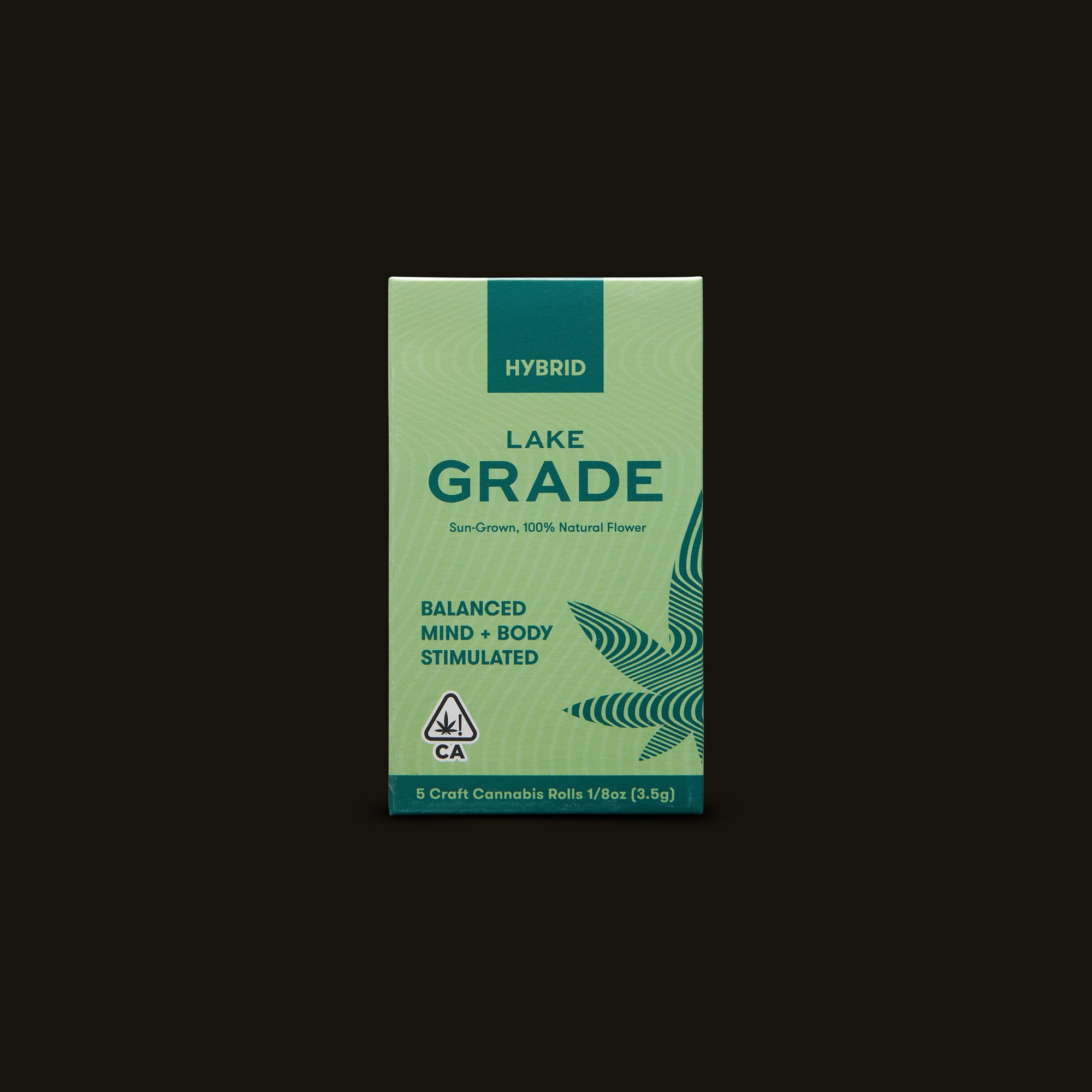 Lakegrade Banana Kush Pre-Roll 5-Pack Front Packaging
