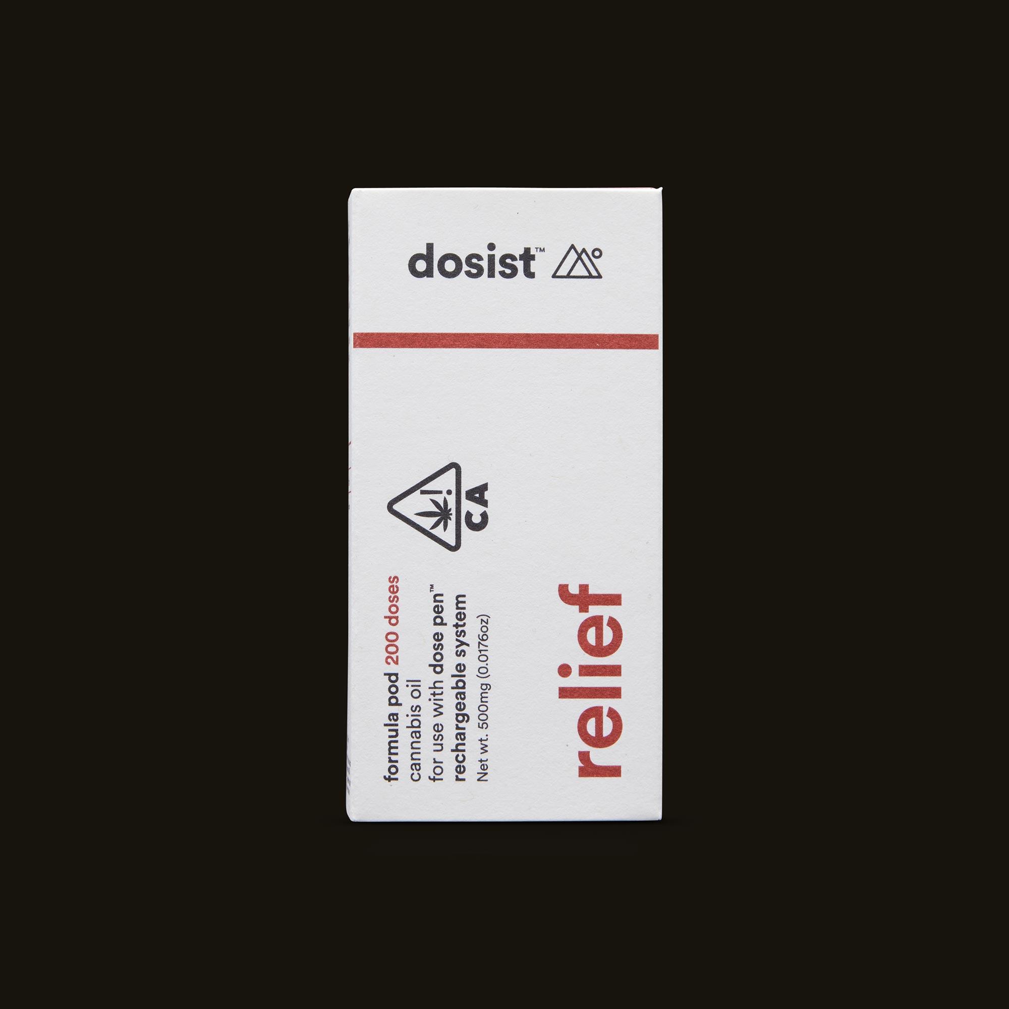dosist relief formula pod front box